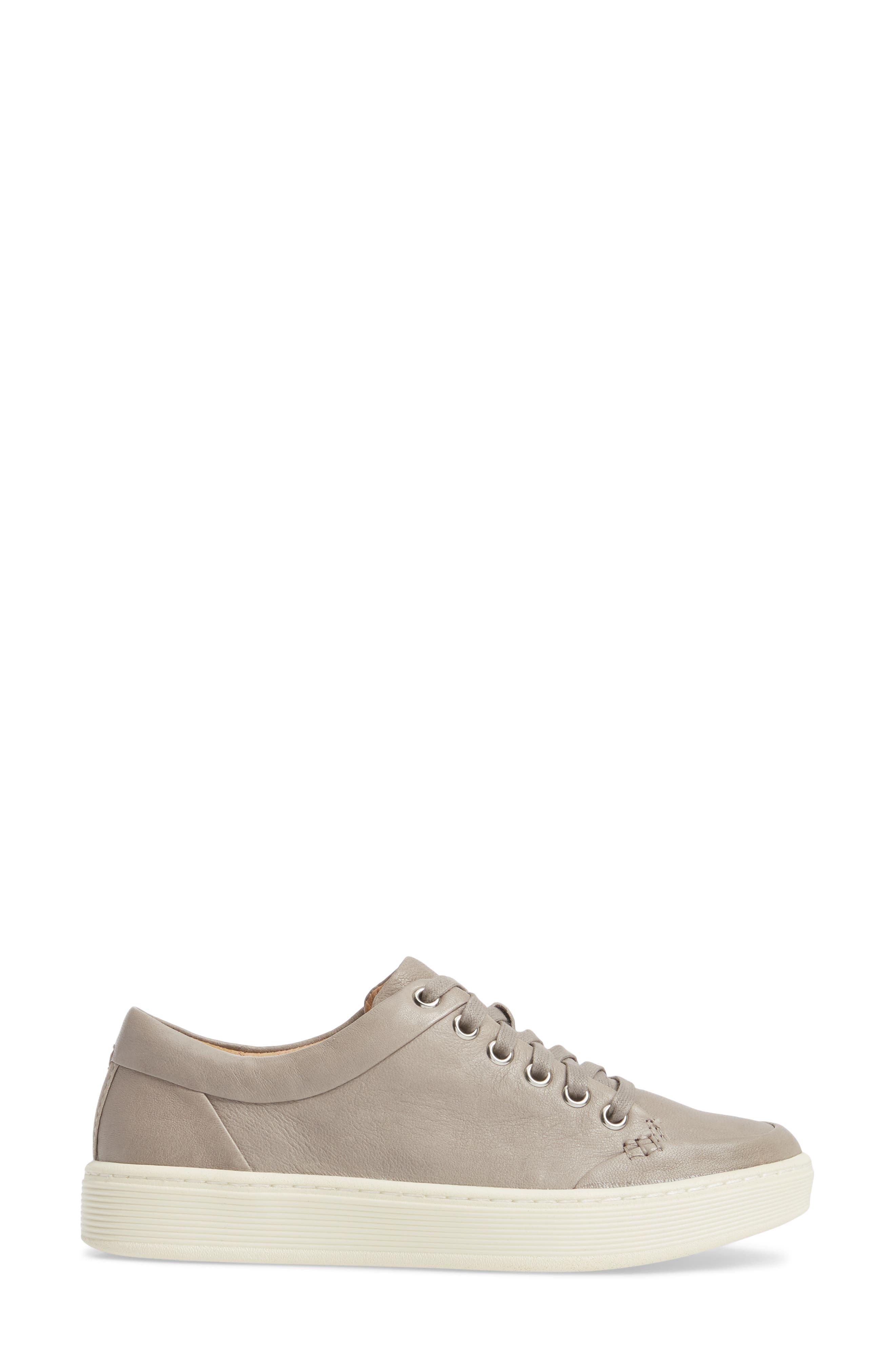 Sanders Sneaker,                             Alternate thumbnail 3, color,                             ZINCO GREY LEATHER
