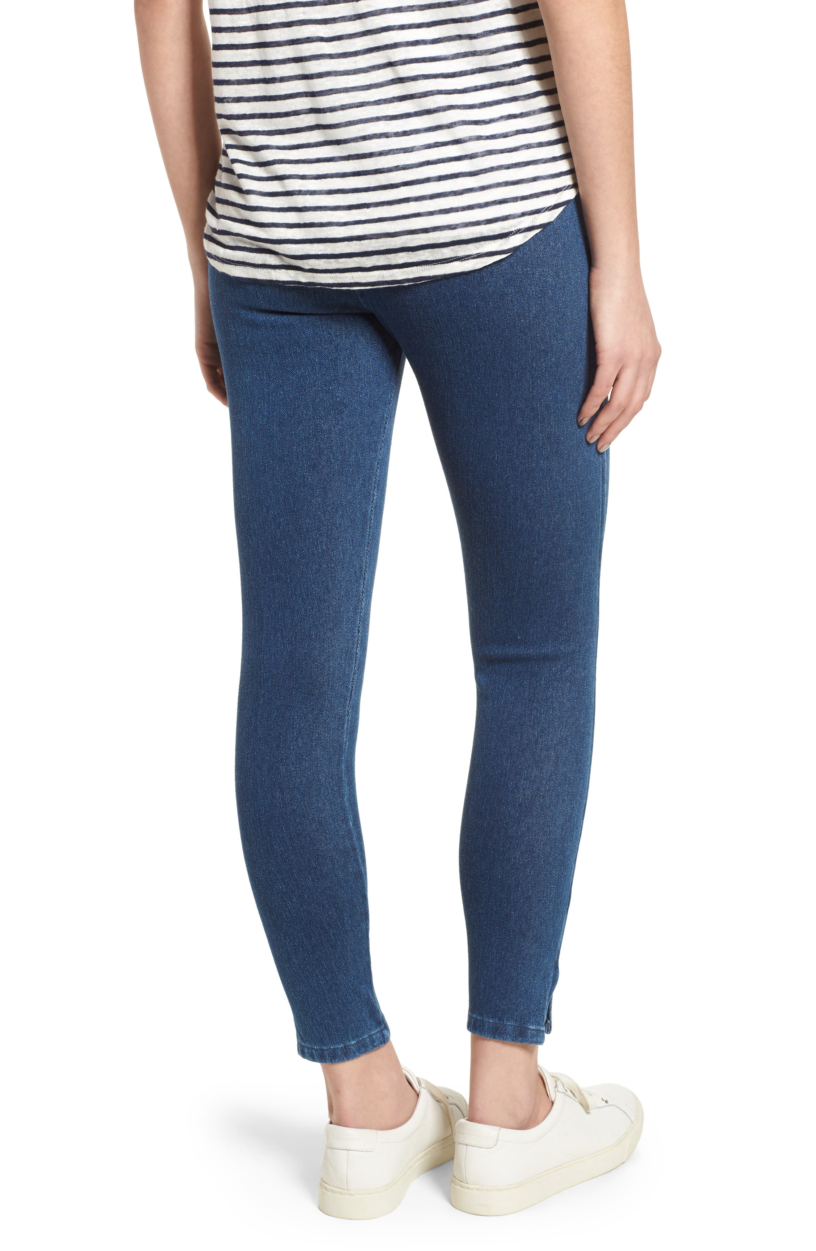 Cooper High Waist Denim Leggings,                             Alternate thumbnail 2, color,                             400
