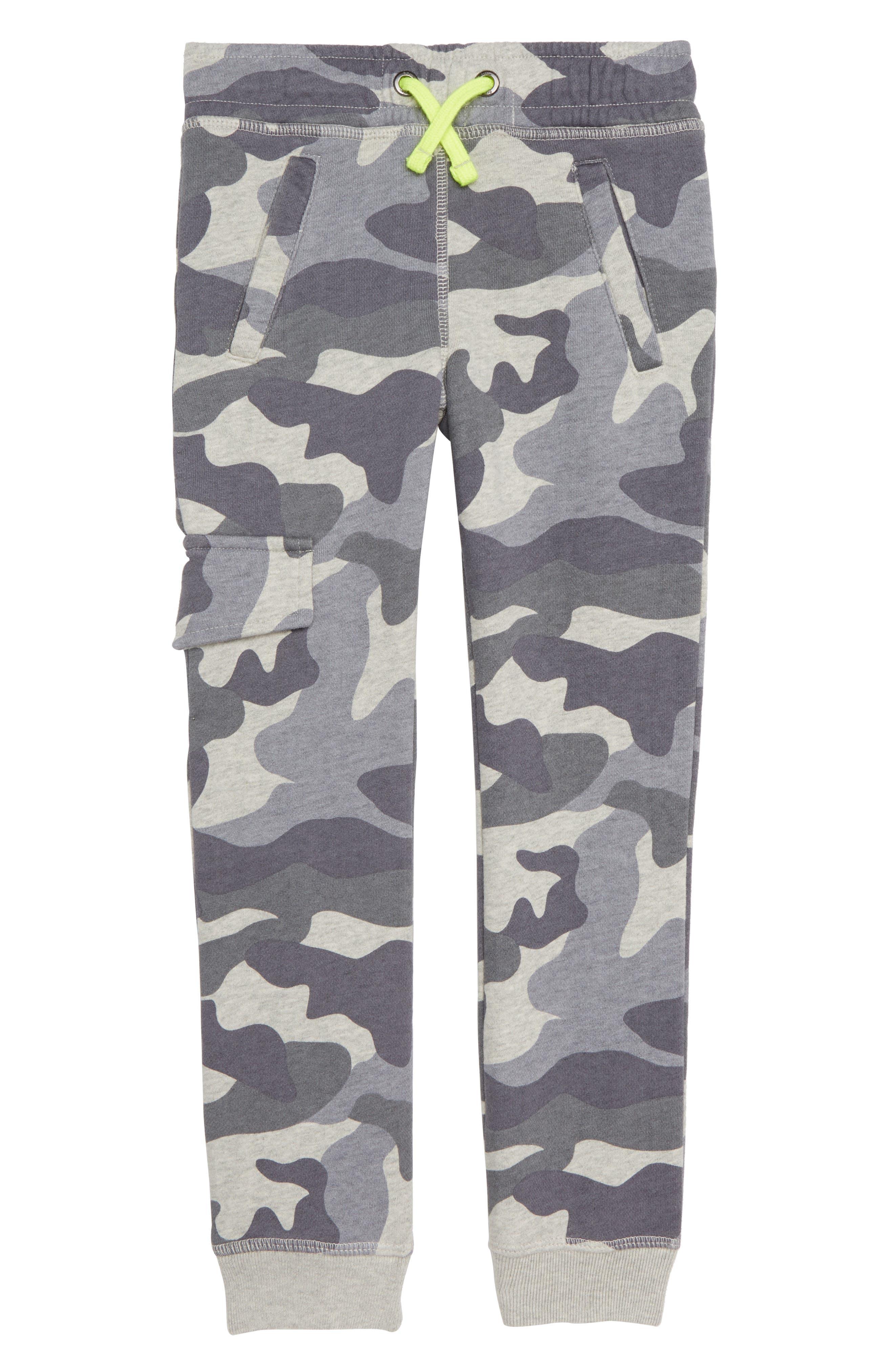 Camo Jersey Jogger Pants,                         Main,                         color, GREY MARL CAMO