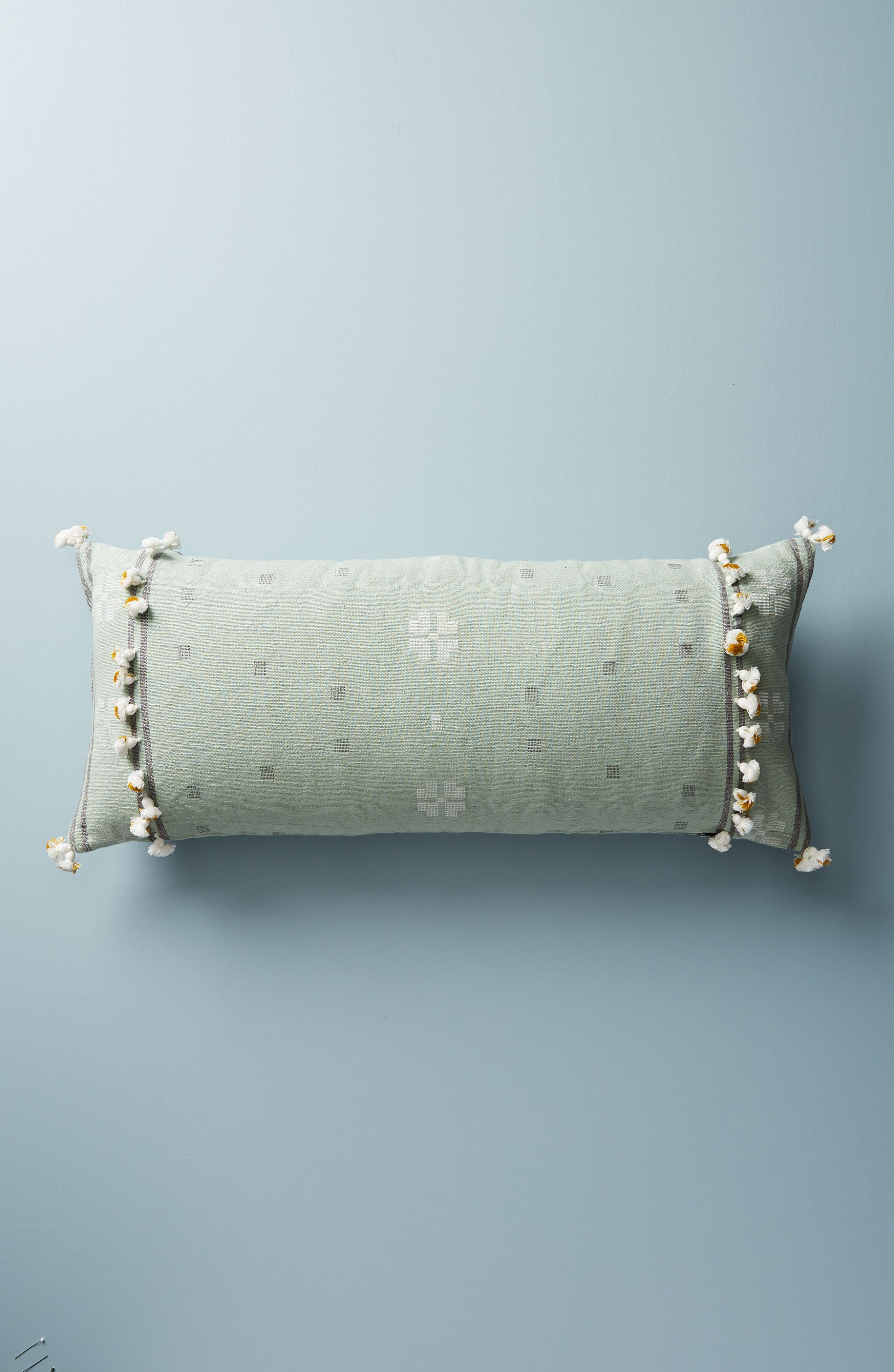 Araya Accent Pillow,                         Main,                         color, OCHRE/ TURQUOISE