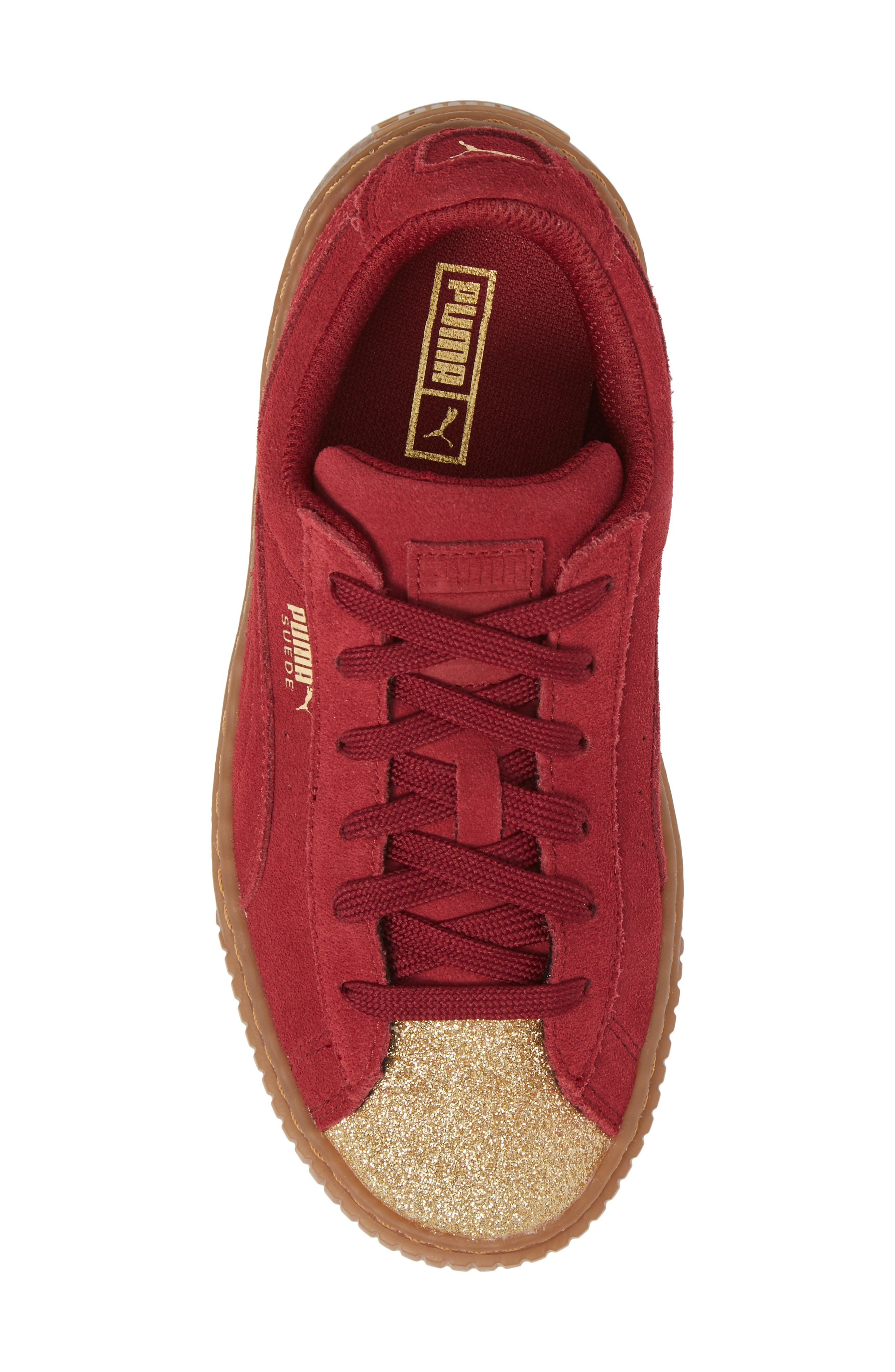 Suede Platform Glam PS Sneaker,                             Alternate thumbnail 25, color,