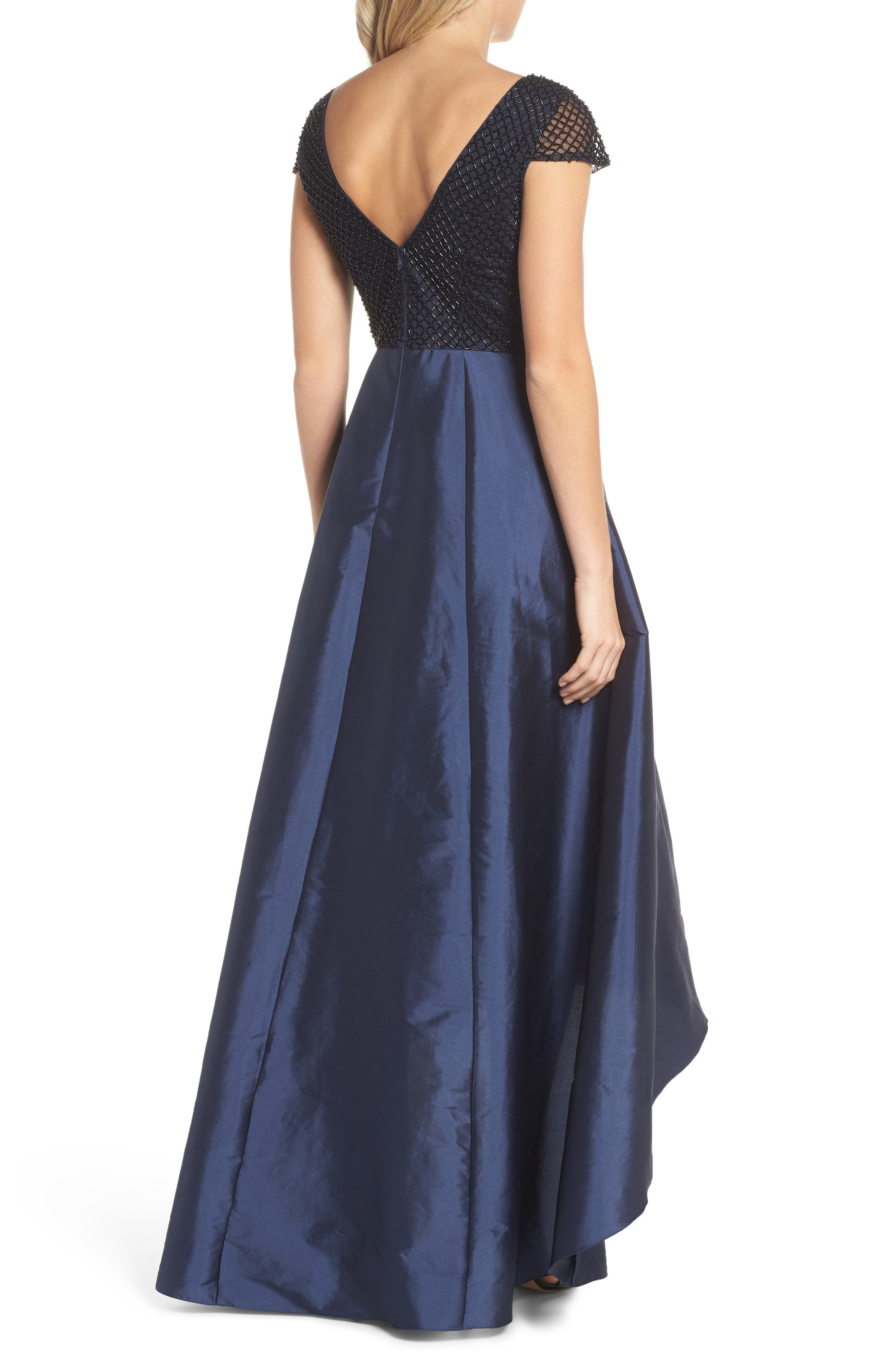 Beaded High/Low Gown,                             Alternate thumbnail 2, color,                             410