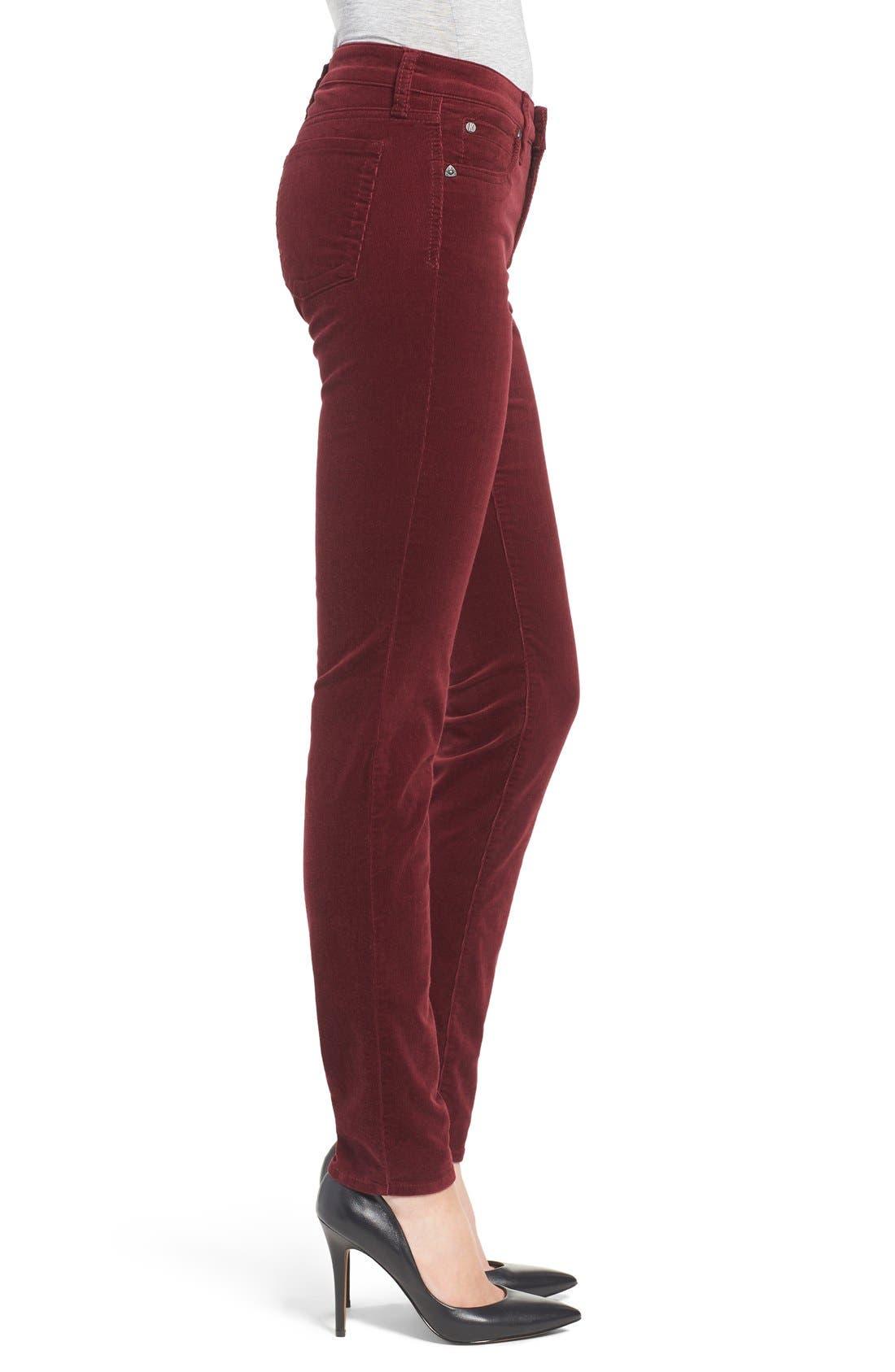 'Diana' Stretch Corduroy Skinny Pants,                             Alternate thumbnail 205, color,