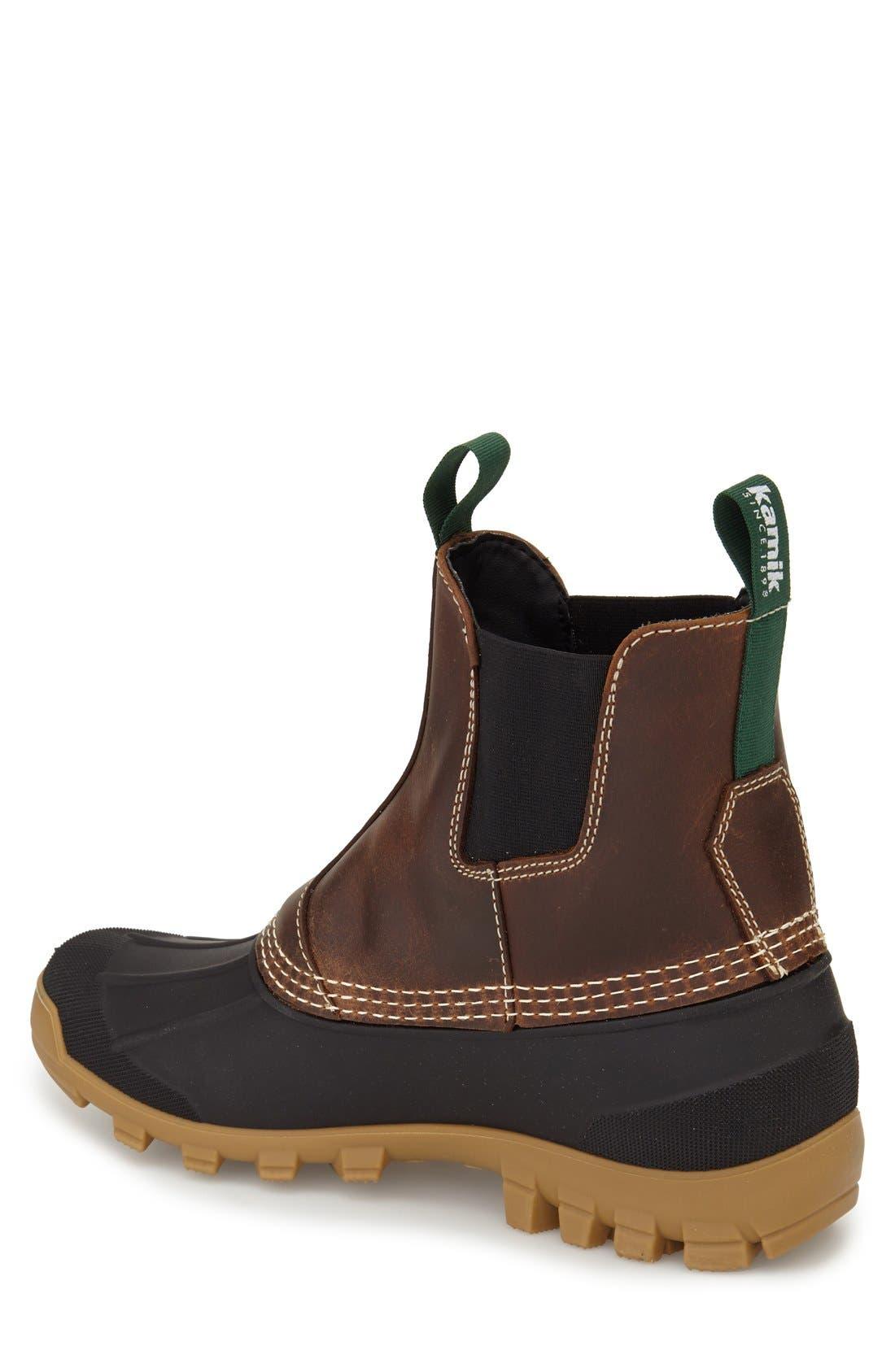 Yukon C Snow Waterproof Boot,                             Alternate thumbnail 2, color,                             DARK BROWN LEATHER