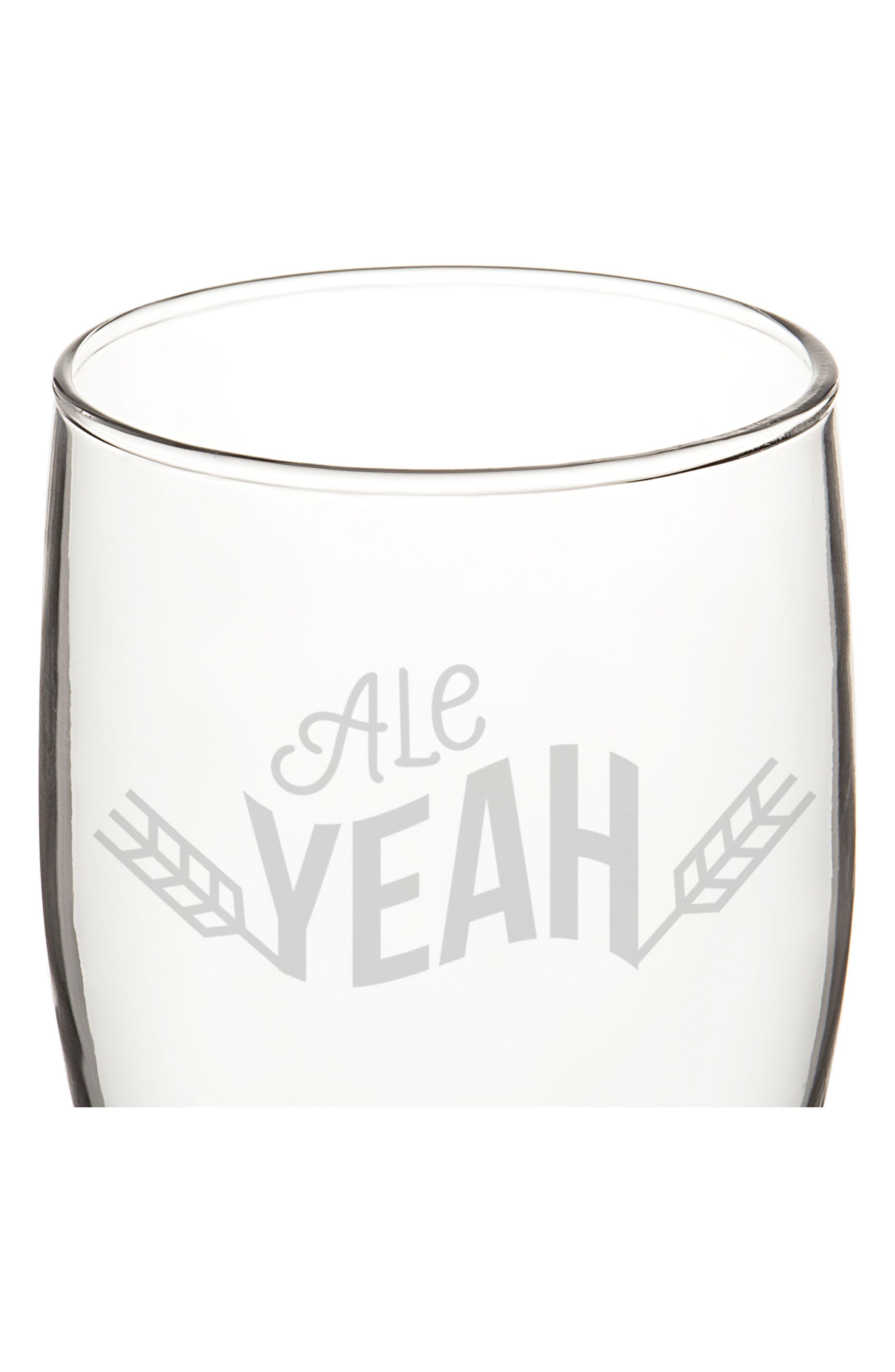 Beer Pun Set of 4 Pilsner Glasses,                             Alternate thumbnail 4, color,                             100