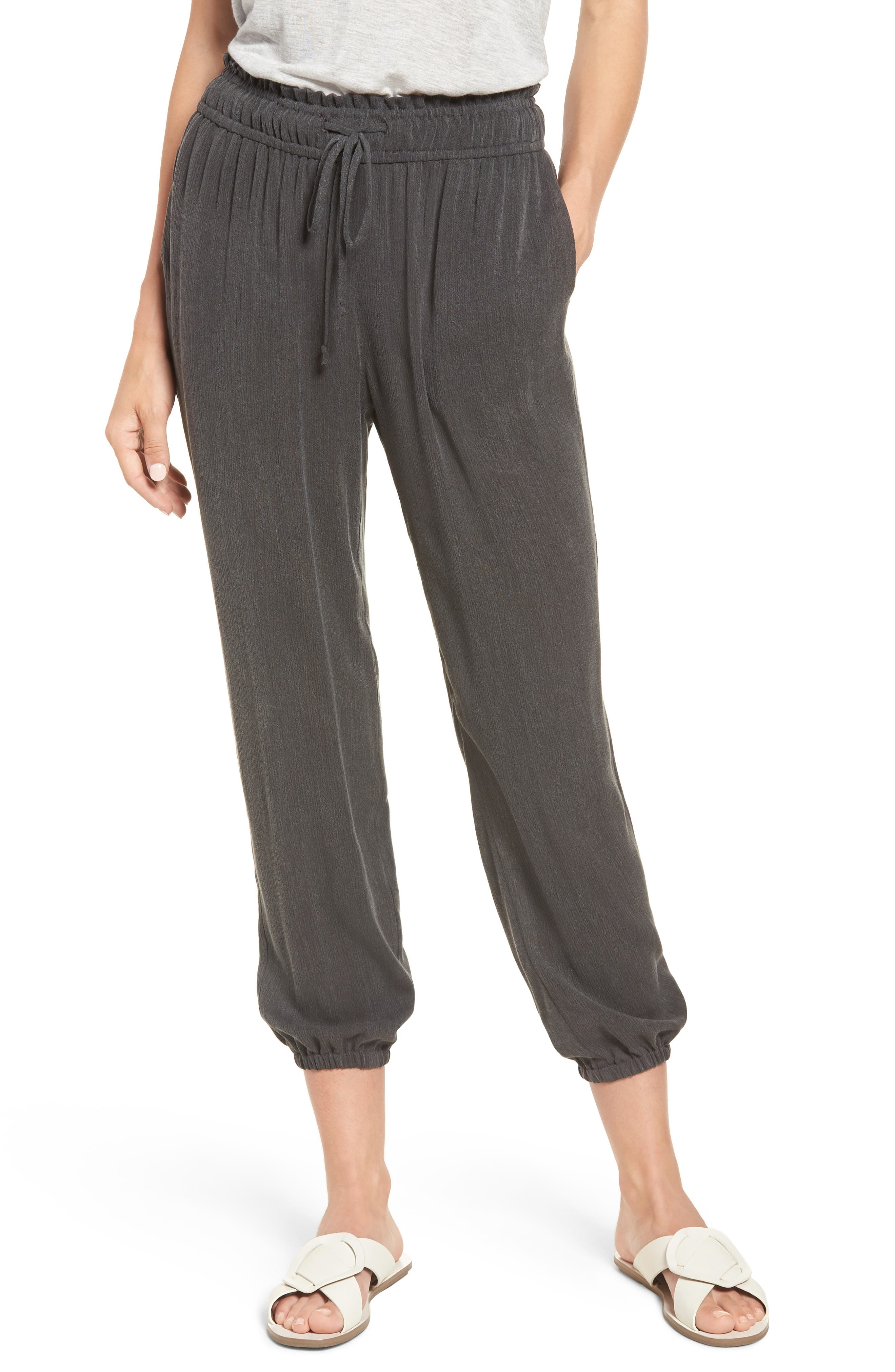 x Hi Sugarplum! Hanalei Soft Jogger Pants,                             Main thumbnail 1, color,                             001