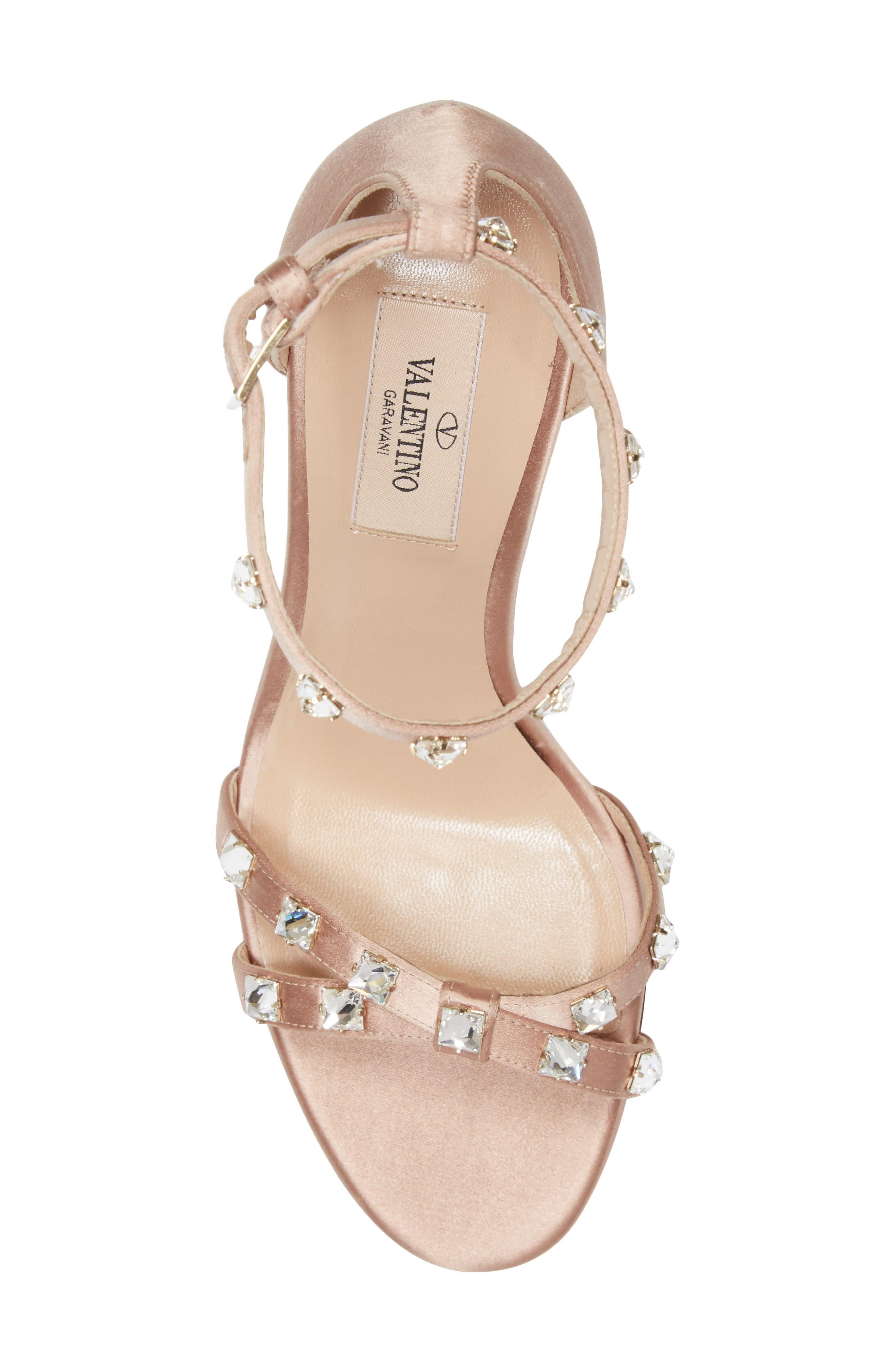 Rockstud Glam Ankle Strap Sandal,                             Alternate thumbnail 5, color,                             250