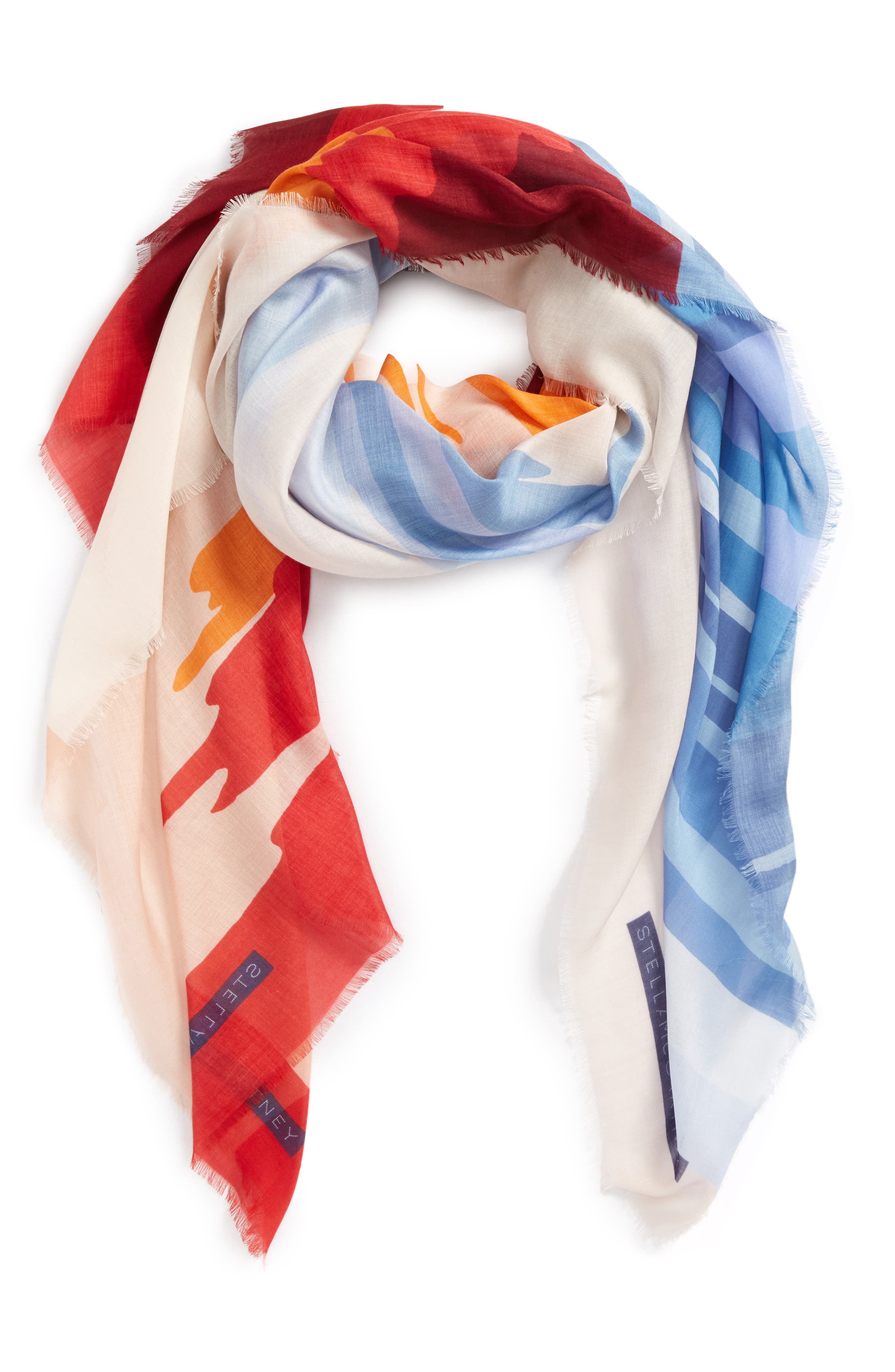 Tropical Sunset Print Scarf,                             Alternate thumbnail 3, color,                             250