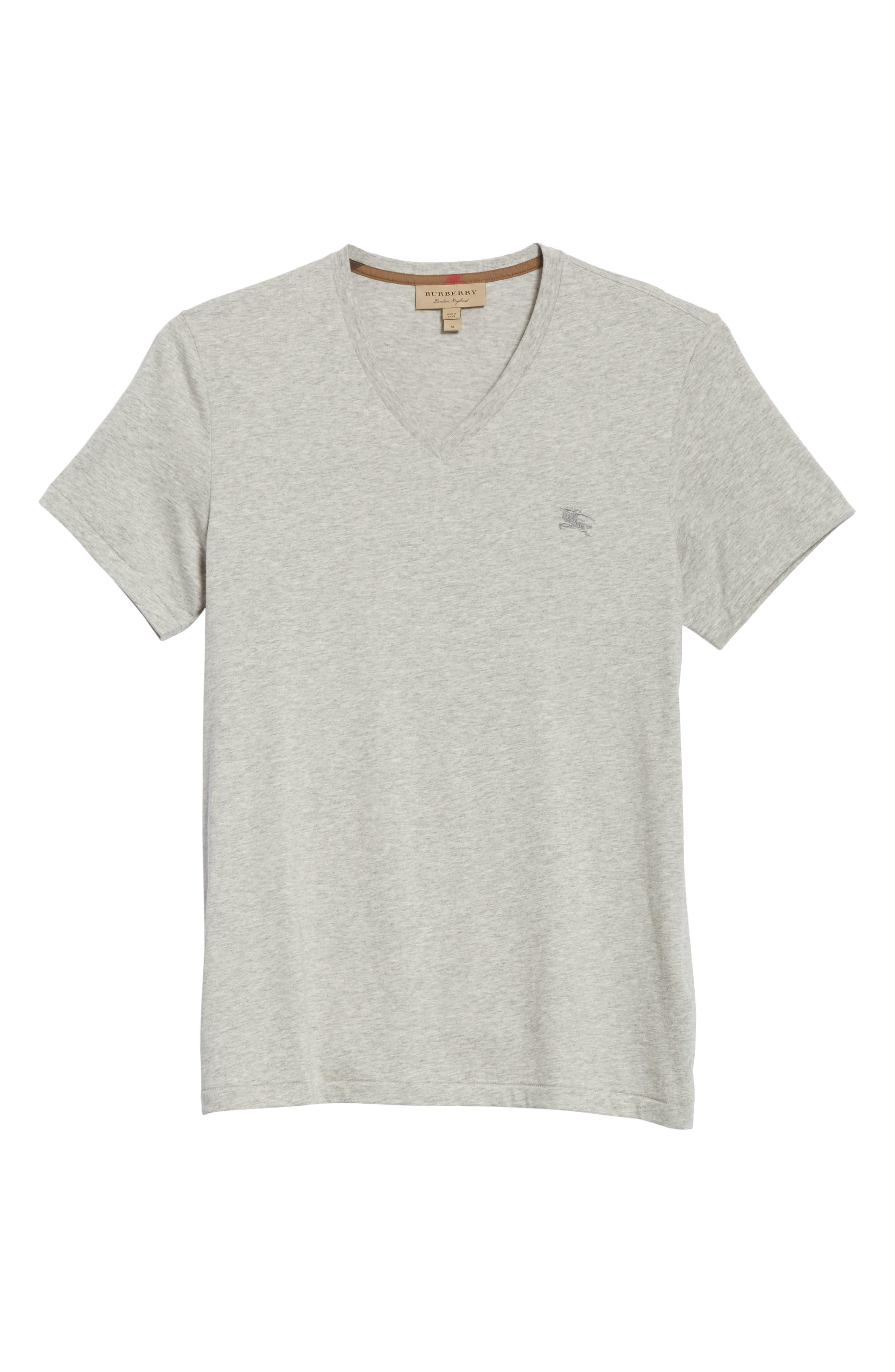 Jadforth V-Neck T-Shirt,                             Alternate thumbnail 6, color,                             PALE GREY MELANGE