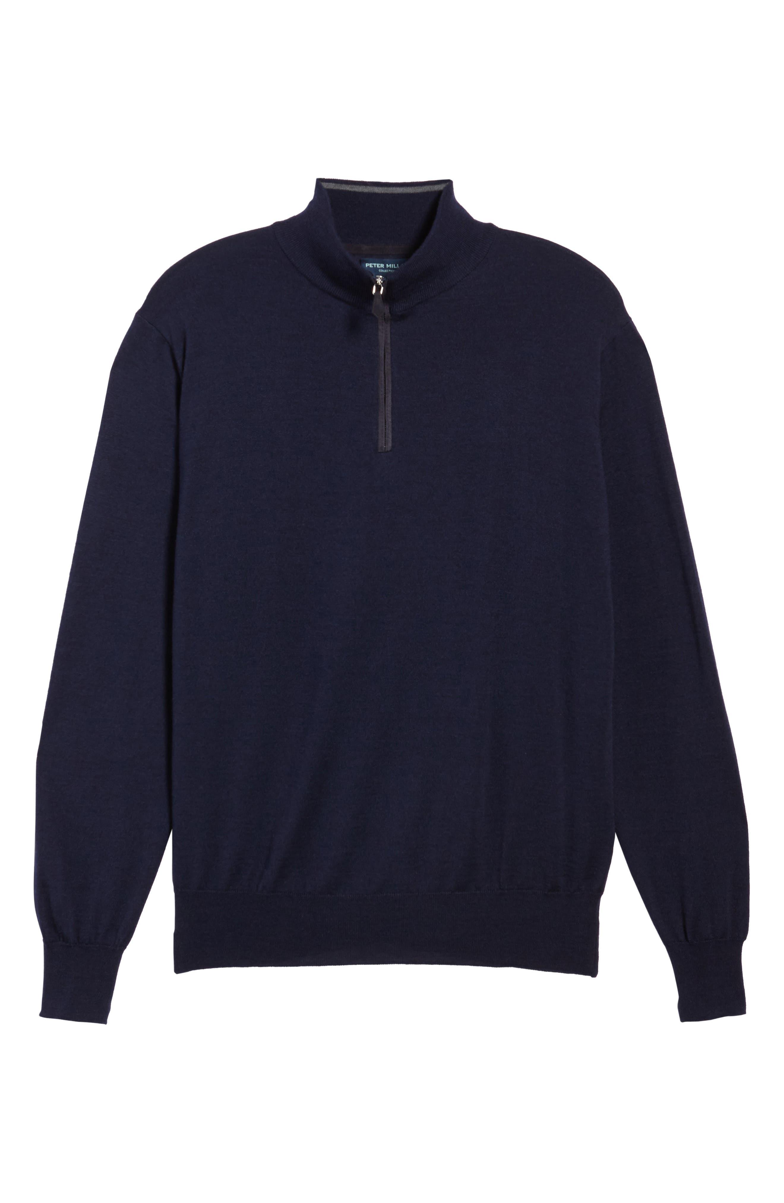 Wool Blend Quarter Zip Sweater,                             Alternate thumbnail 12, color,