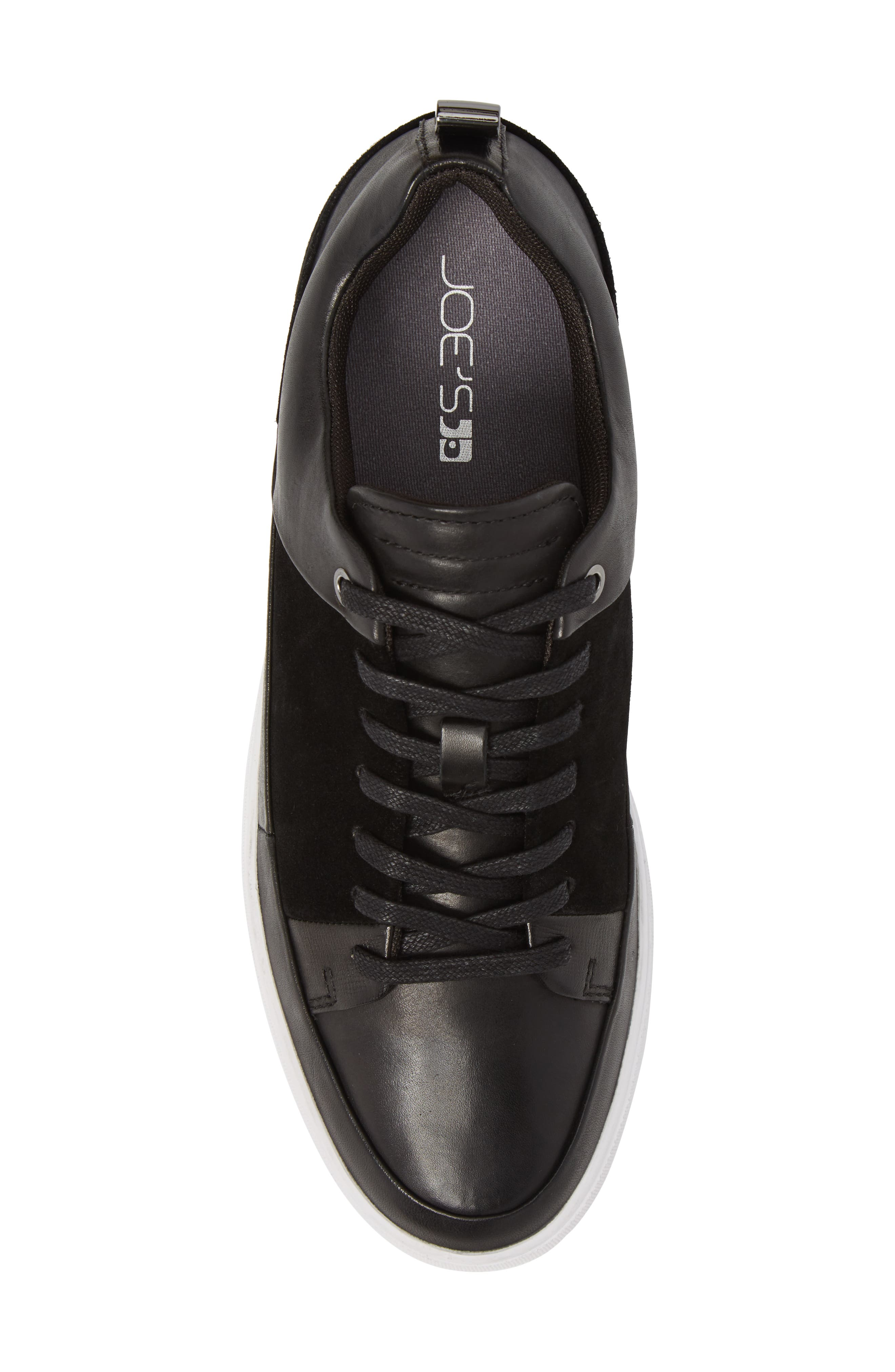 Slick Sneaker,                             Alternate thumbnail 5, color,                             BLACK LEATHER/ SUEDE