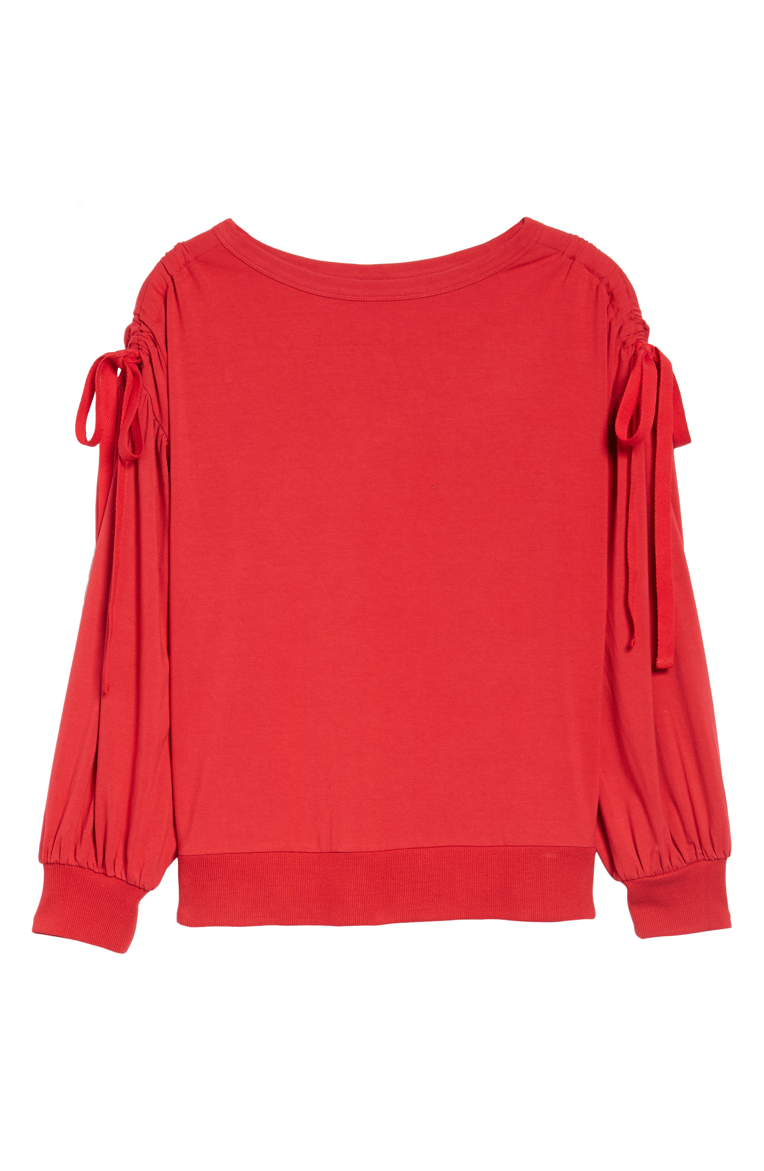Ruched Bow Sleeve Top,                             Alternate thumbnail 24, color,