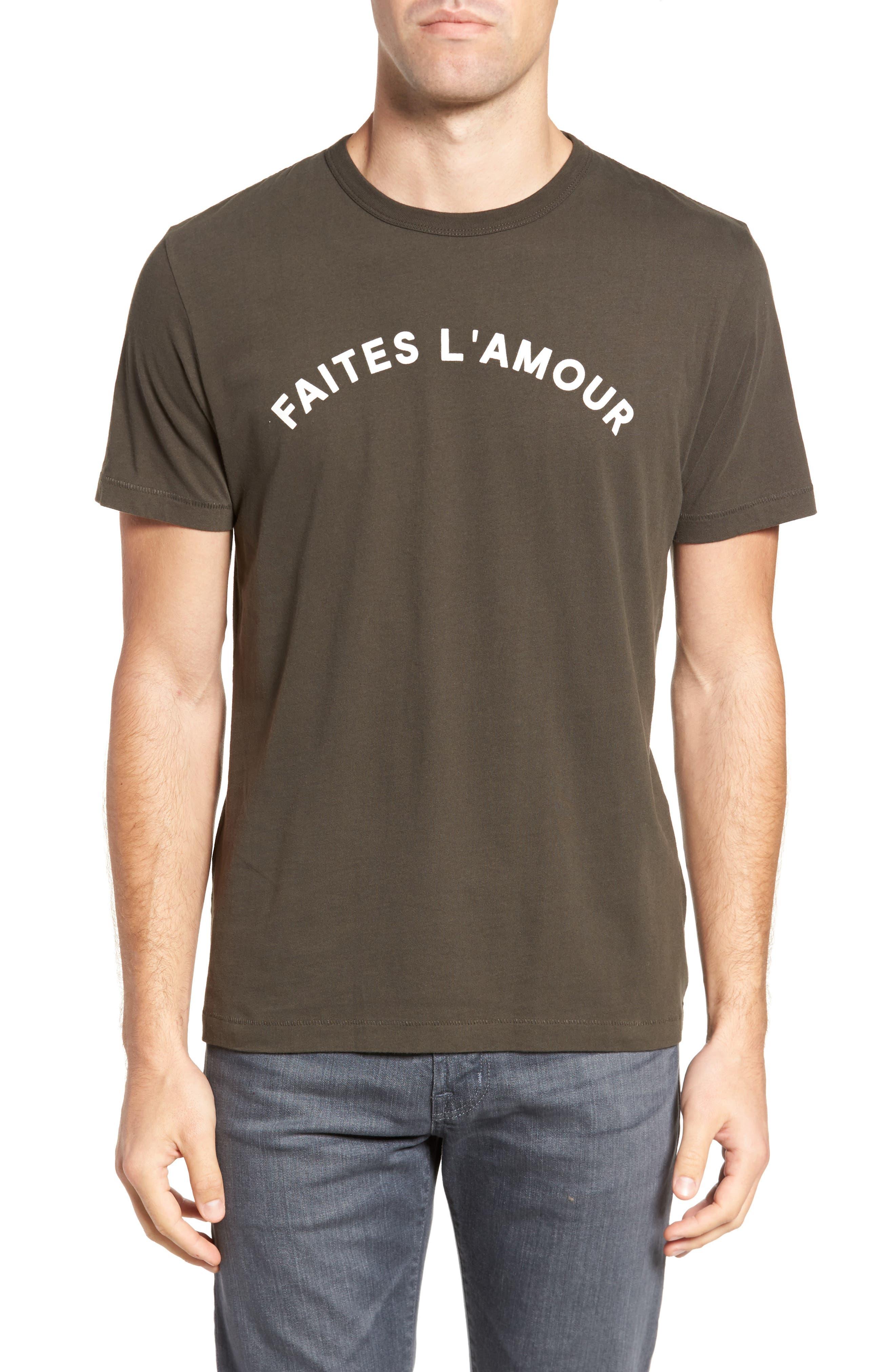 Faites L'Amour Regular Fit T-Shirt,                             Main thumbnail 1, color,                             001