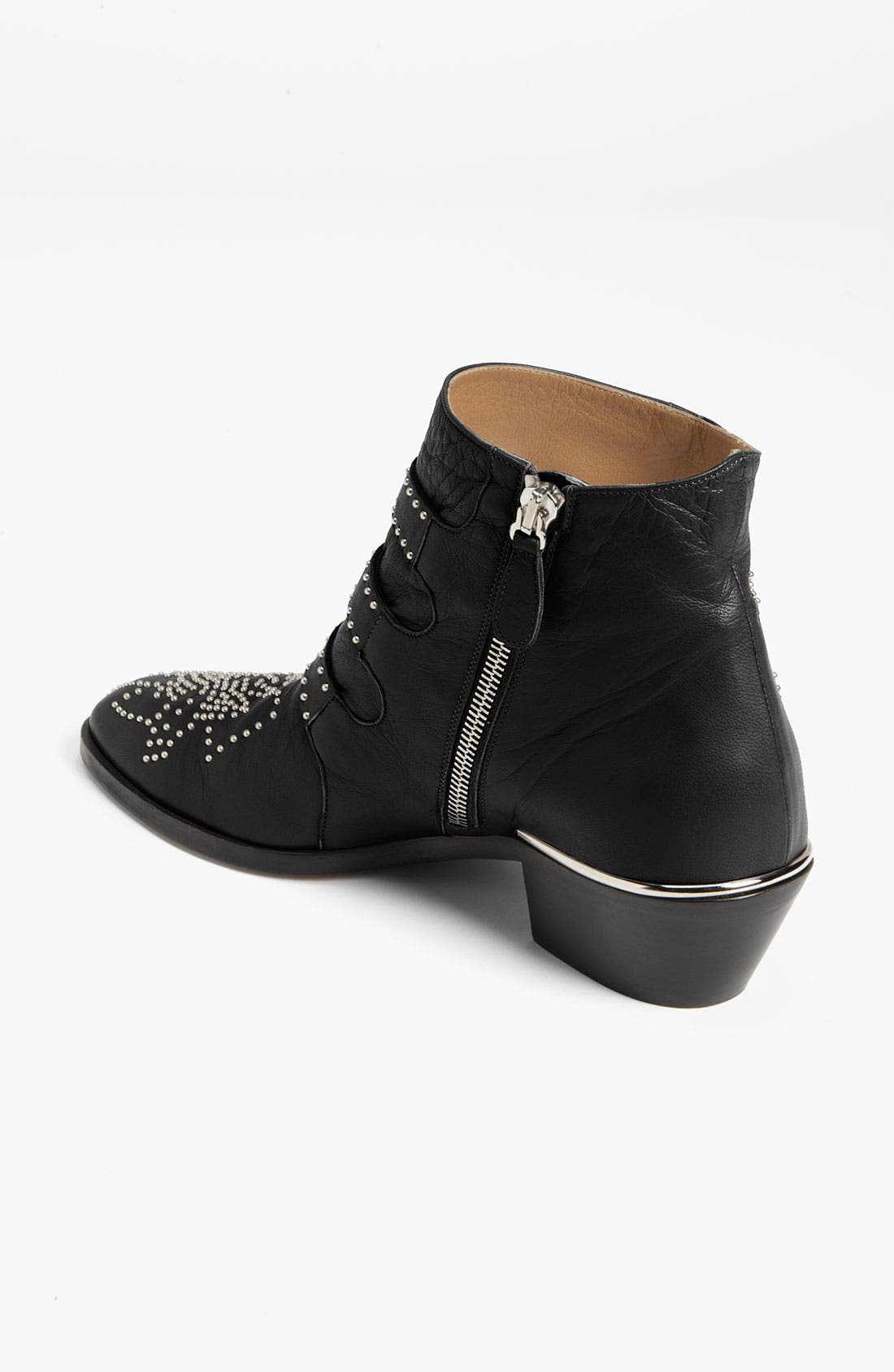 'Suzanna' Stud Buckle Bootie,                             Alternate thumbnail 4, color,                             001