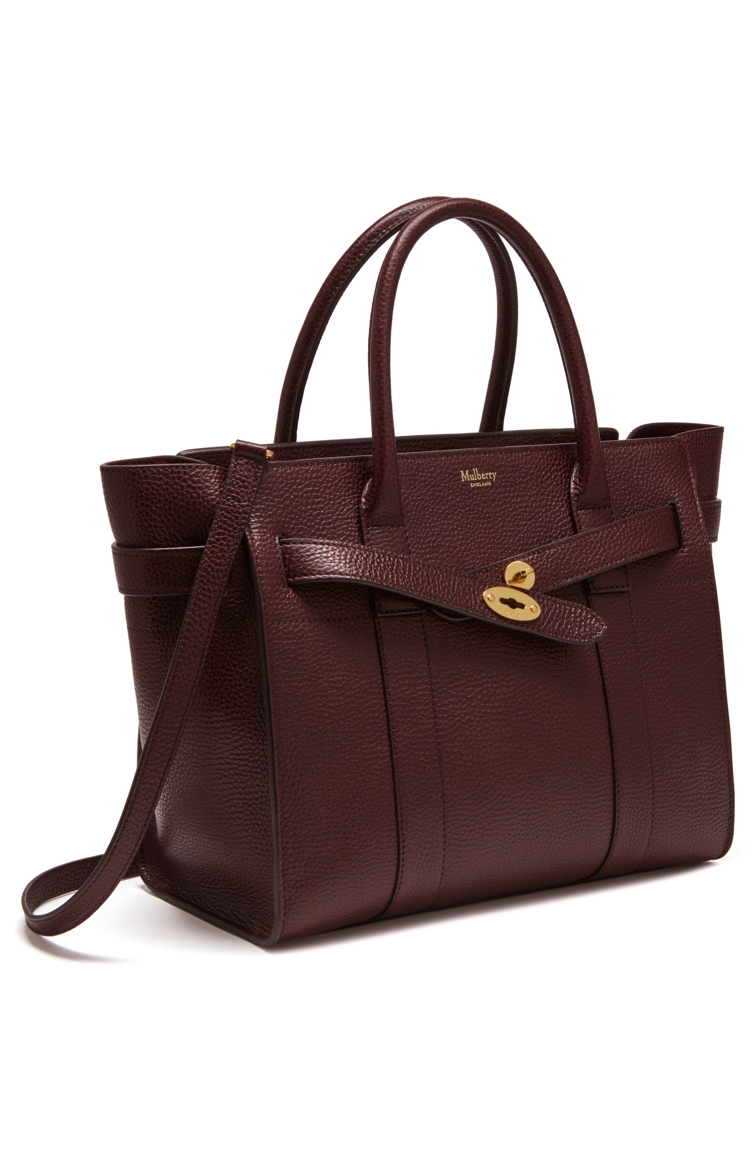 Large Bayswater Leather Tote,                             Alternate thumbnail 5, color,                             601