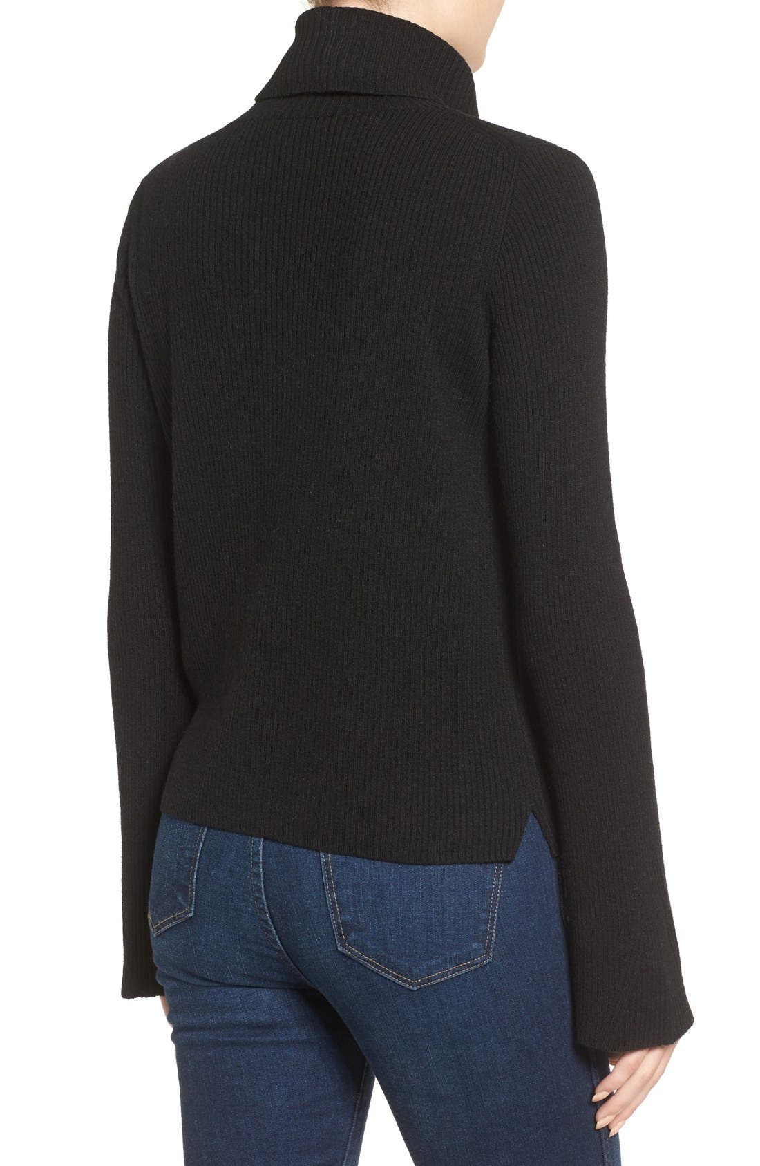 MADEWELL,                             Turtleneck Sweater,                             Alternate thumbnail 5, color,                             001