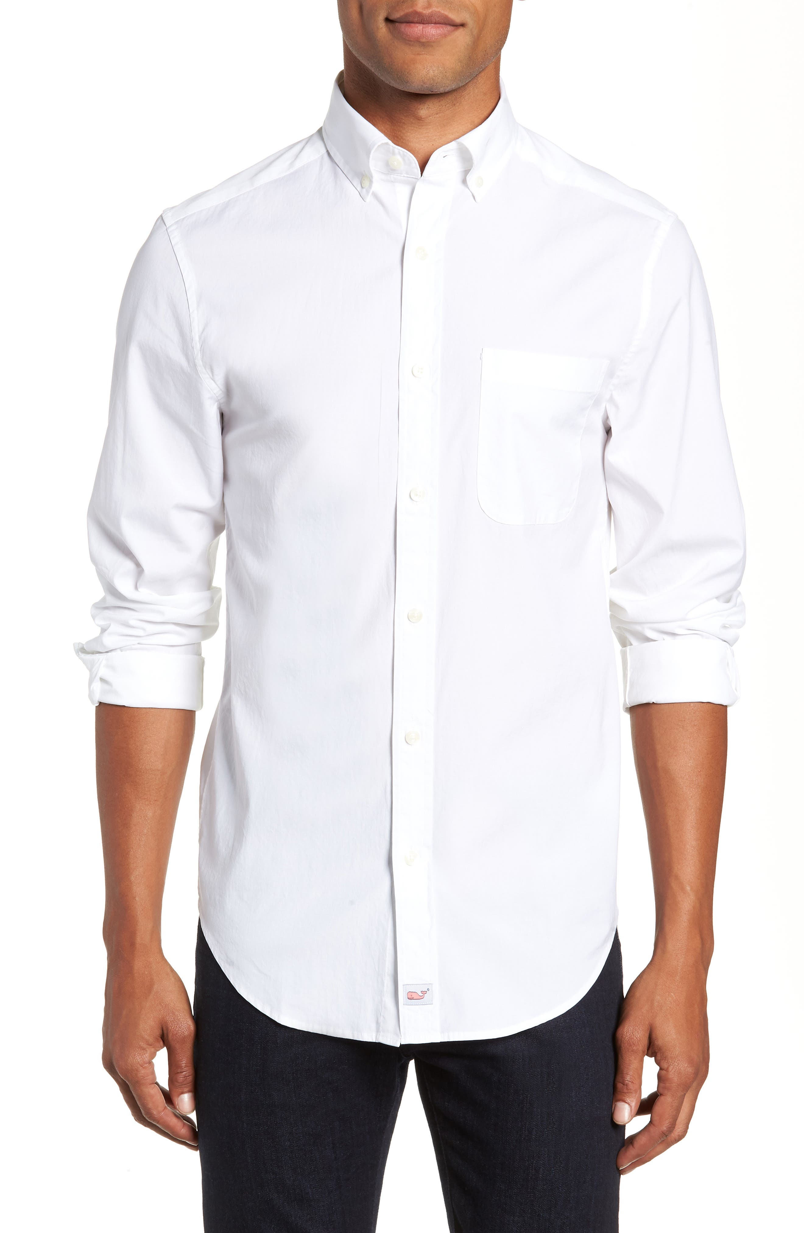 Eoe Murray Regular Fit Sport Shirt,                             Main thumbnail 1, color,                             WHITE CAP