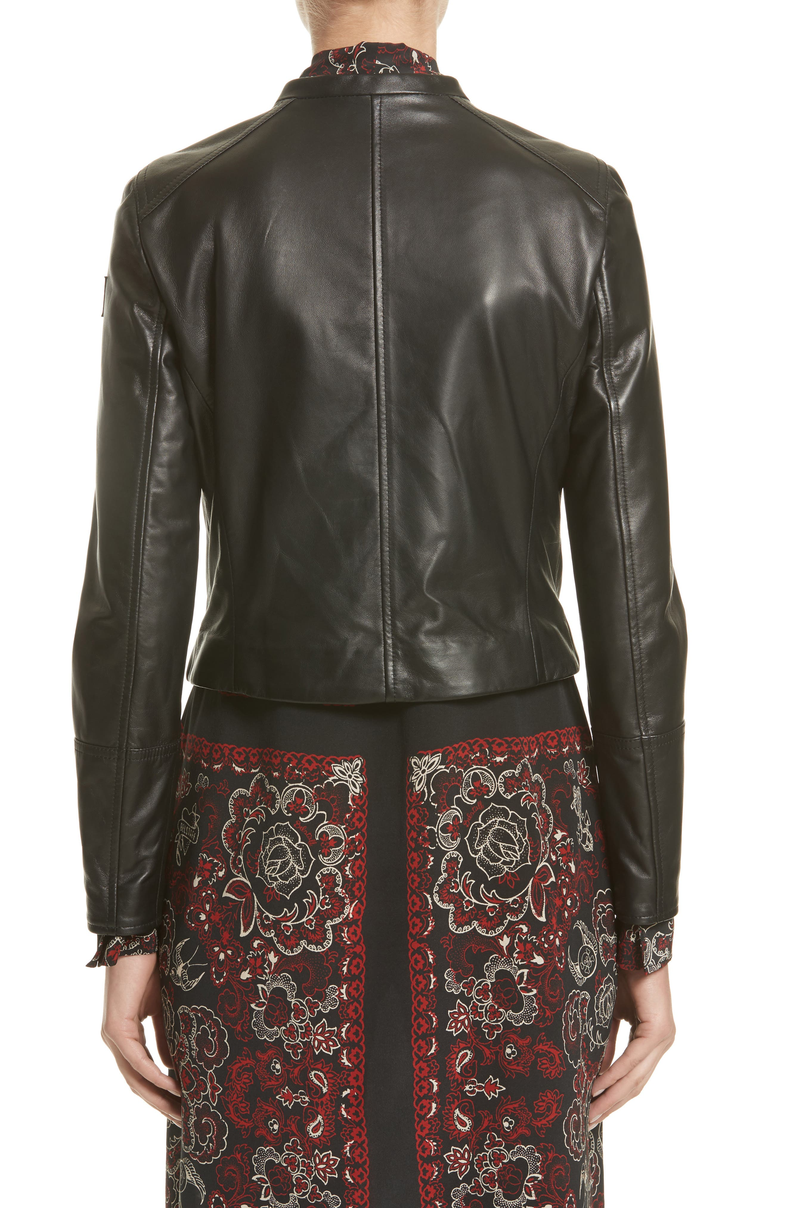 Carrack Leather Jacket,                             Alternate thumbnail 2, color,                             001