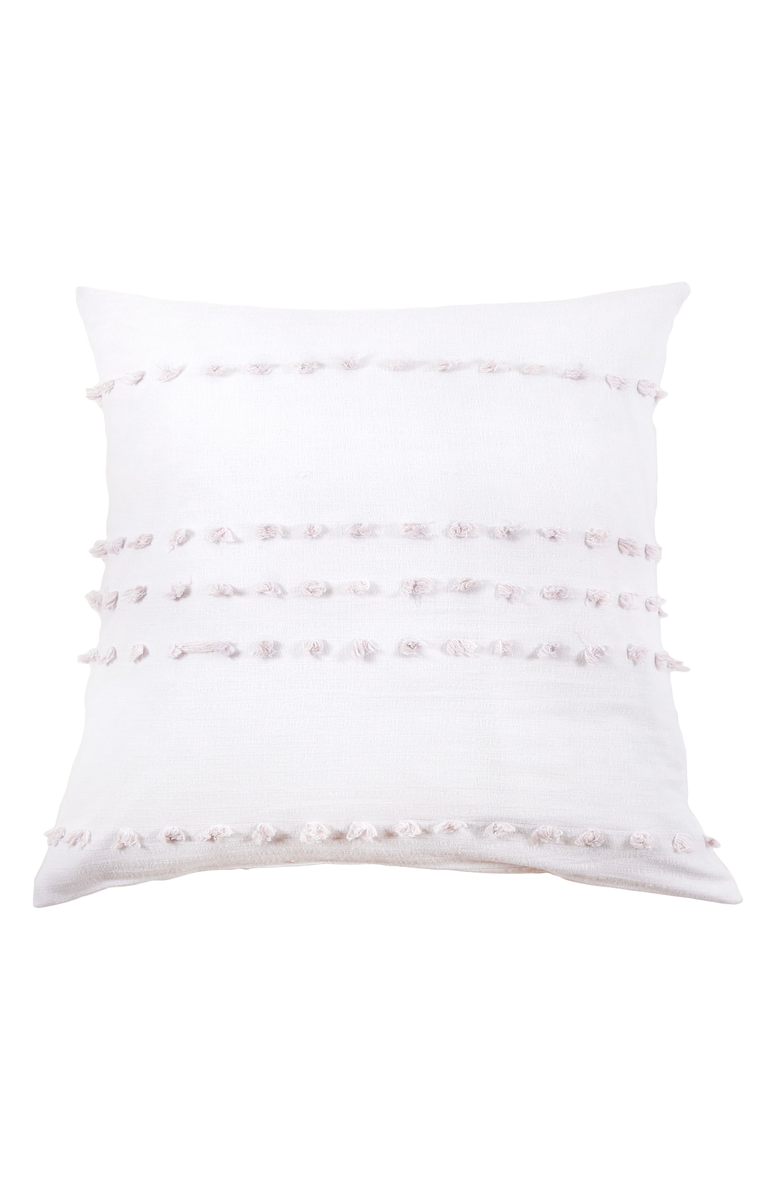 Poppy Accent Pillow,                             Main thumbnail 1, color,                             WHITE/ BLUSH