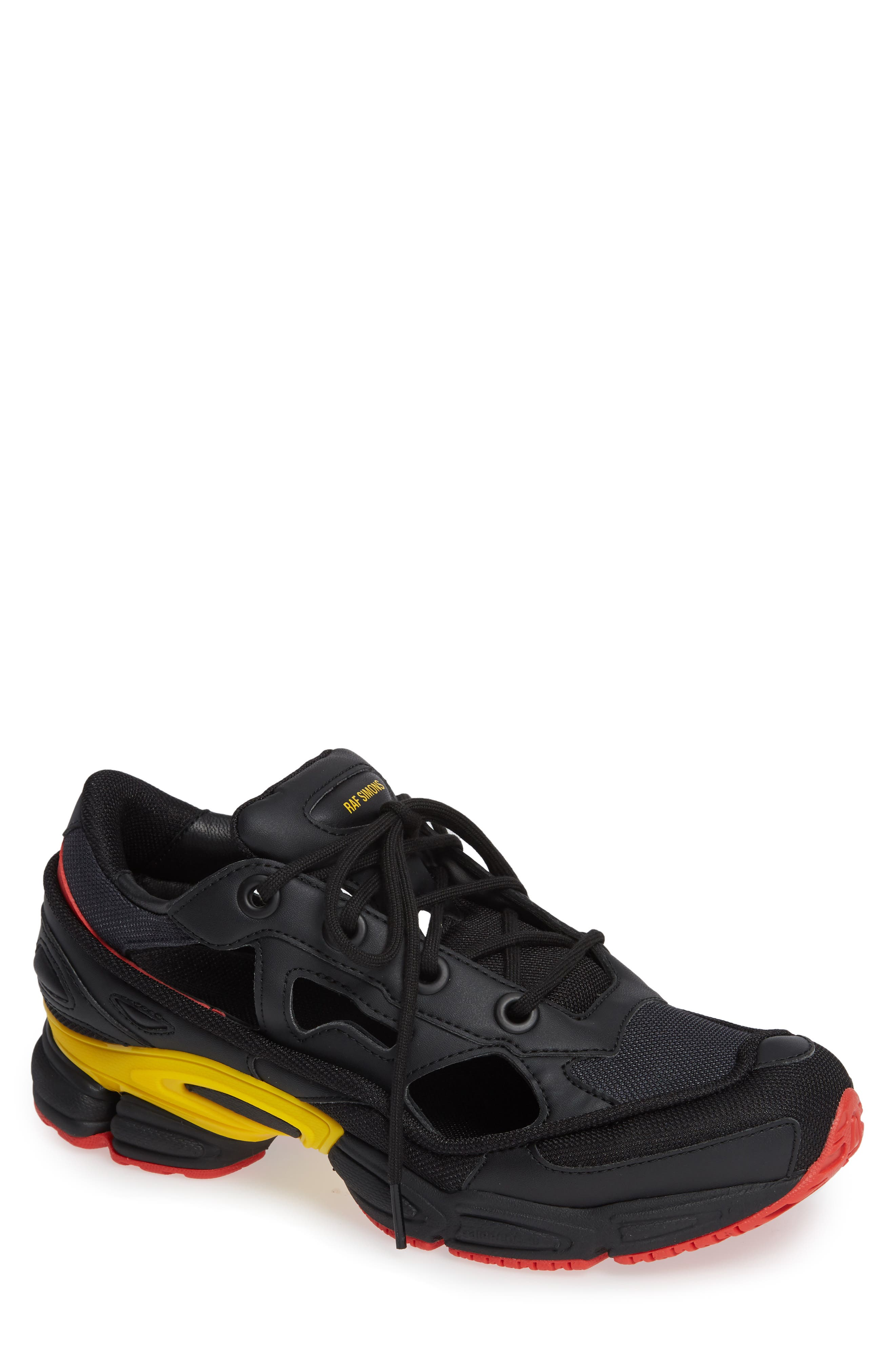 adidas by Raf Simons Replicant Ozweego Sneaker,                             Main thumbnail 1, color,                             CORE BLACK/ NIGHT GREY