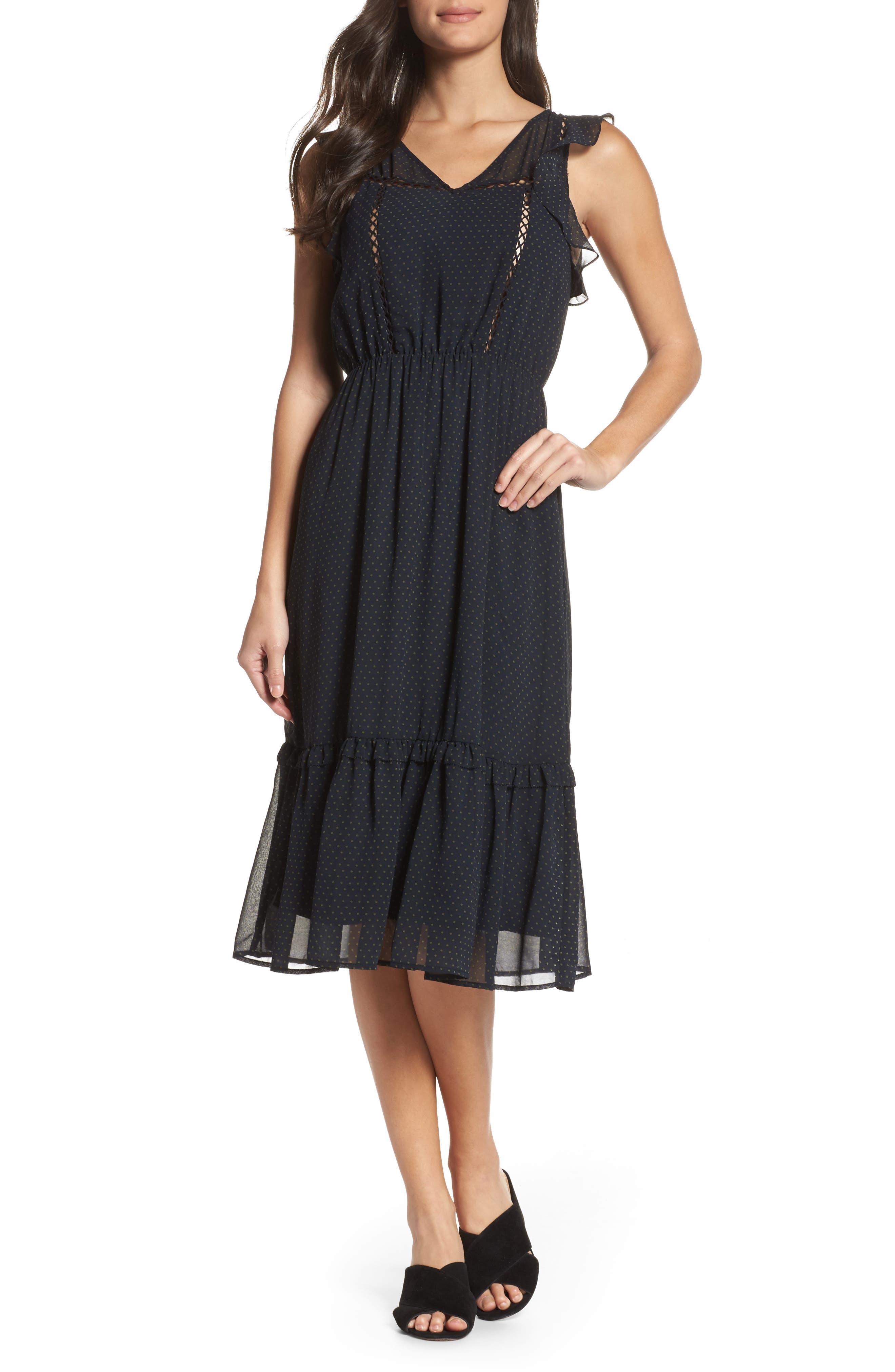 Carra Ruffle A-Line Dress,                         Main,                         color, 410