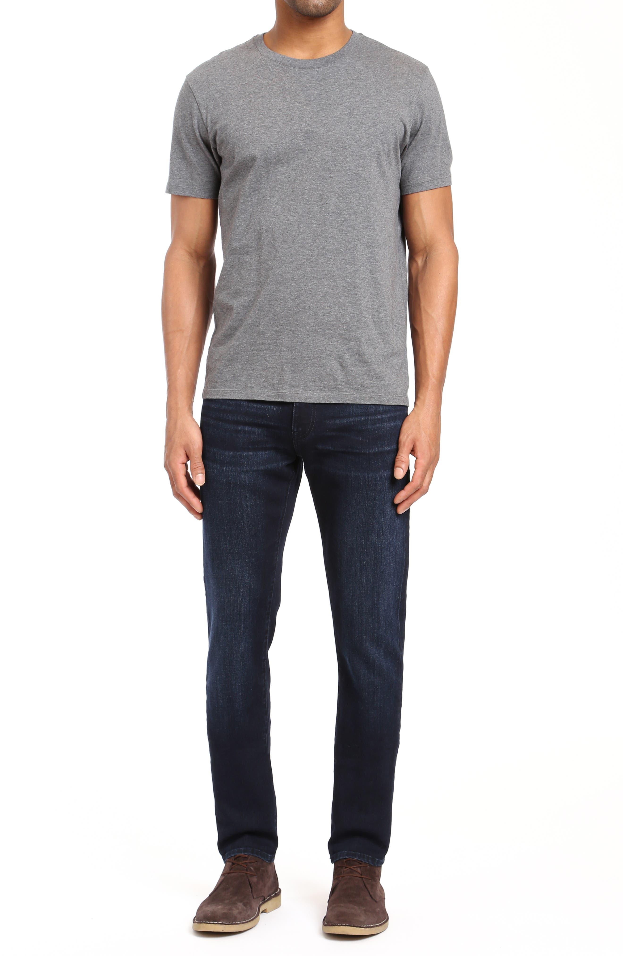 Jake Skinny Fit Jeans,                             Alternate thumbnail 4, color,                             INK FOGGY WILLIAMSBURG