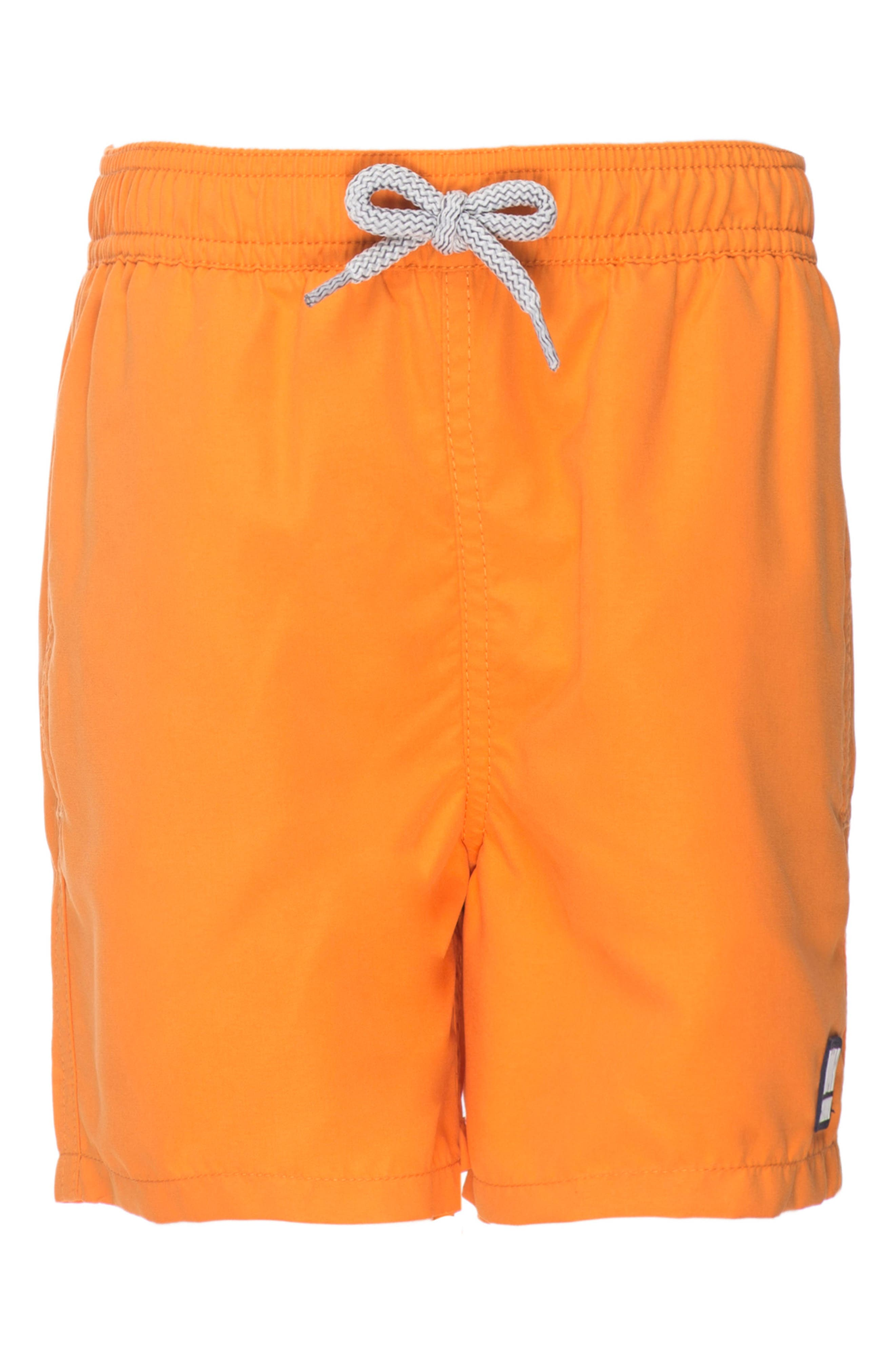 Solid Swim Trunks,                             Alternate thumbnail 3, color,                             BAKED ORANGE