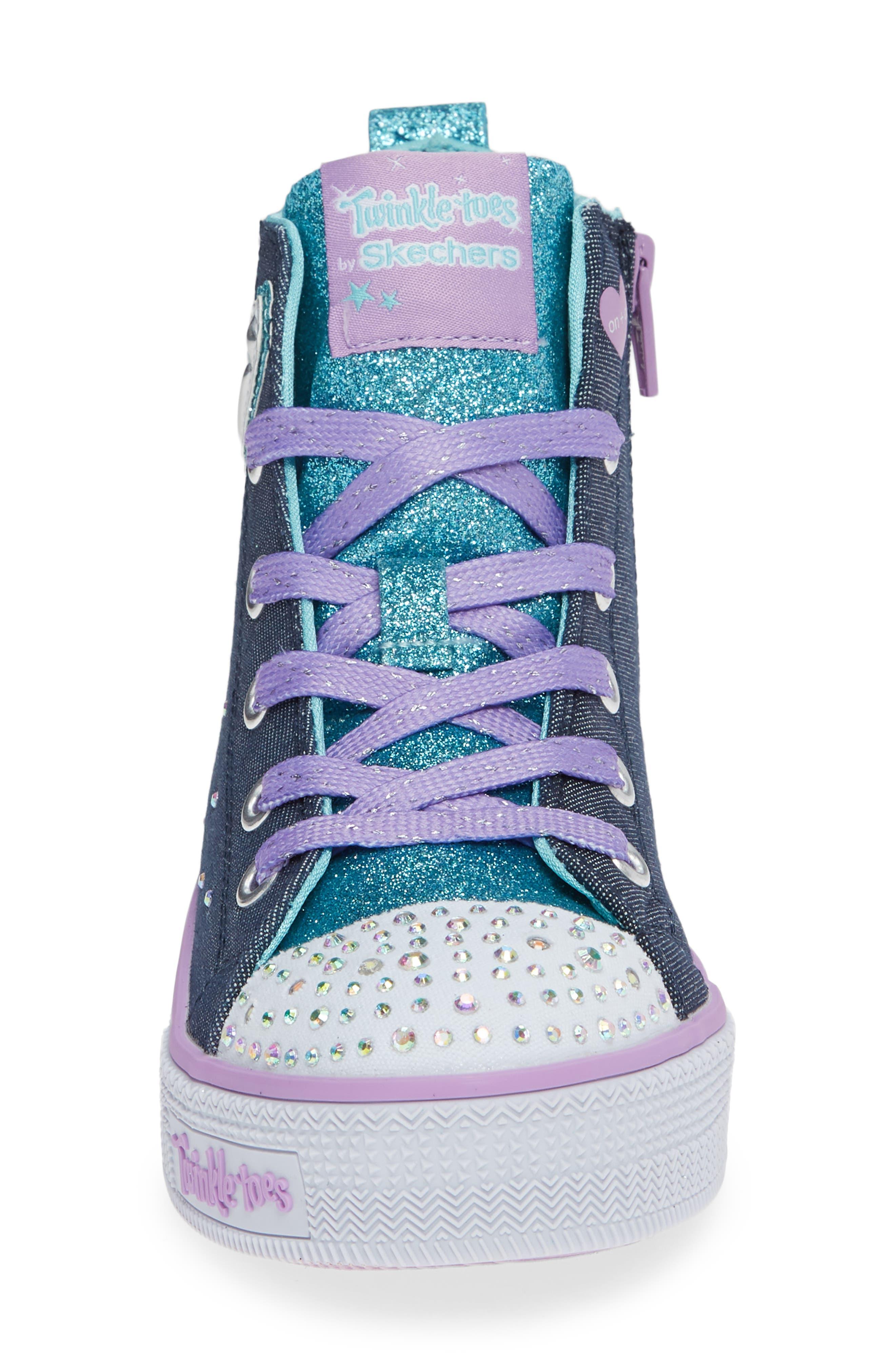 Twinkle Lite Glitter Sneaker,                             Alternate thumbnail 4, color,                             468