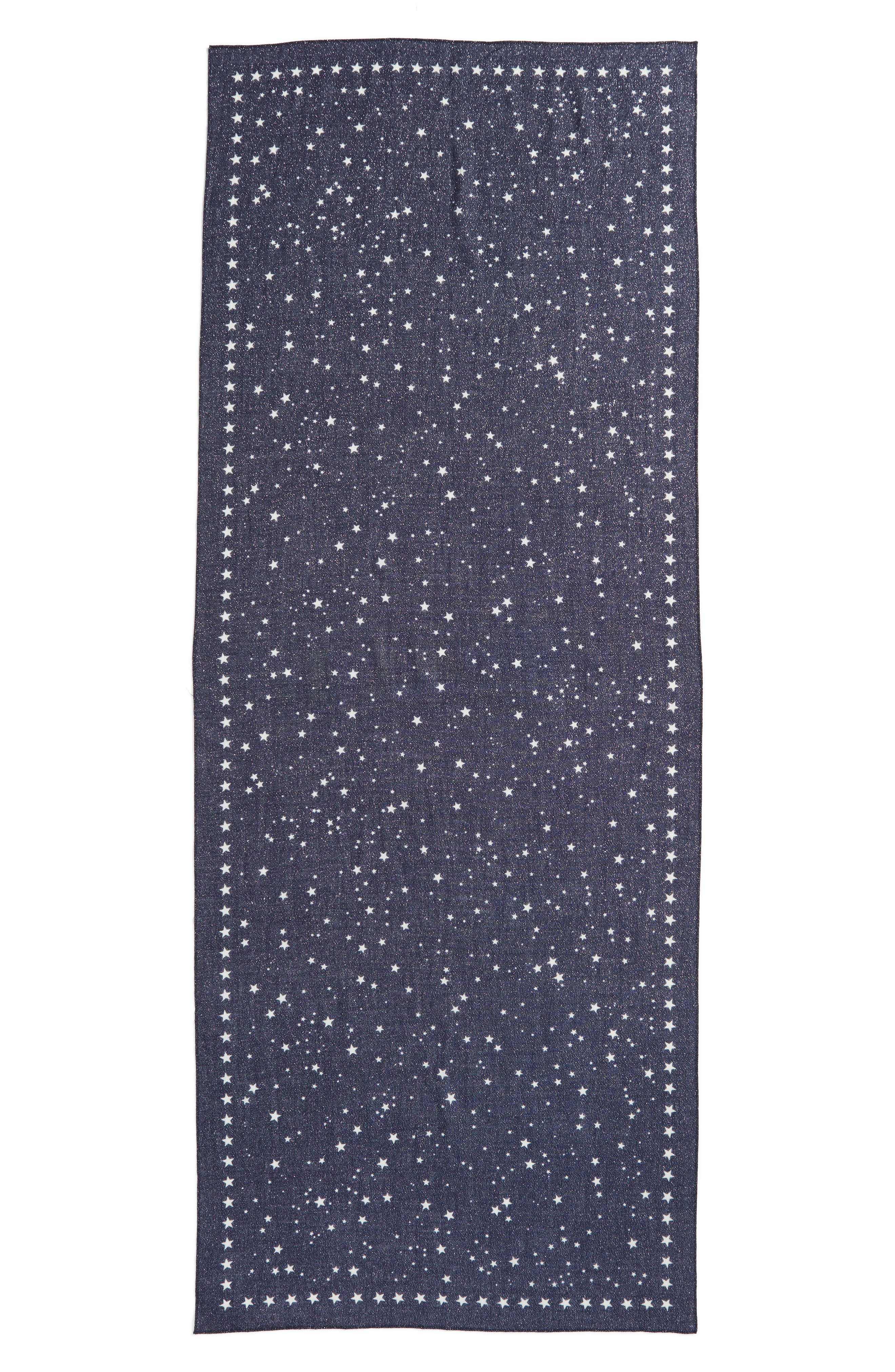 night sky wool blend scarf,                             Alternate thumbnail 3, color,                             415