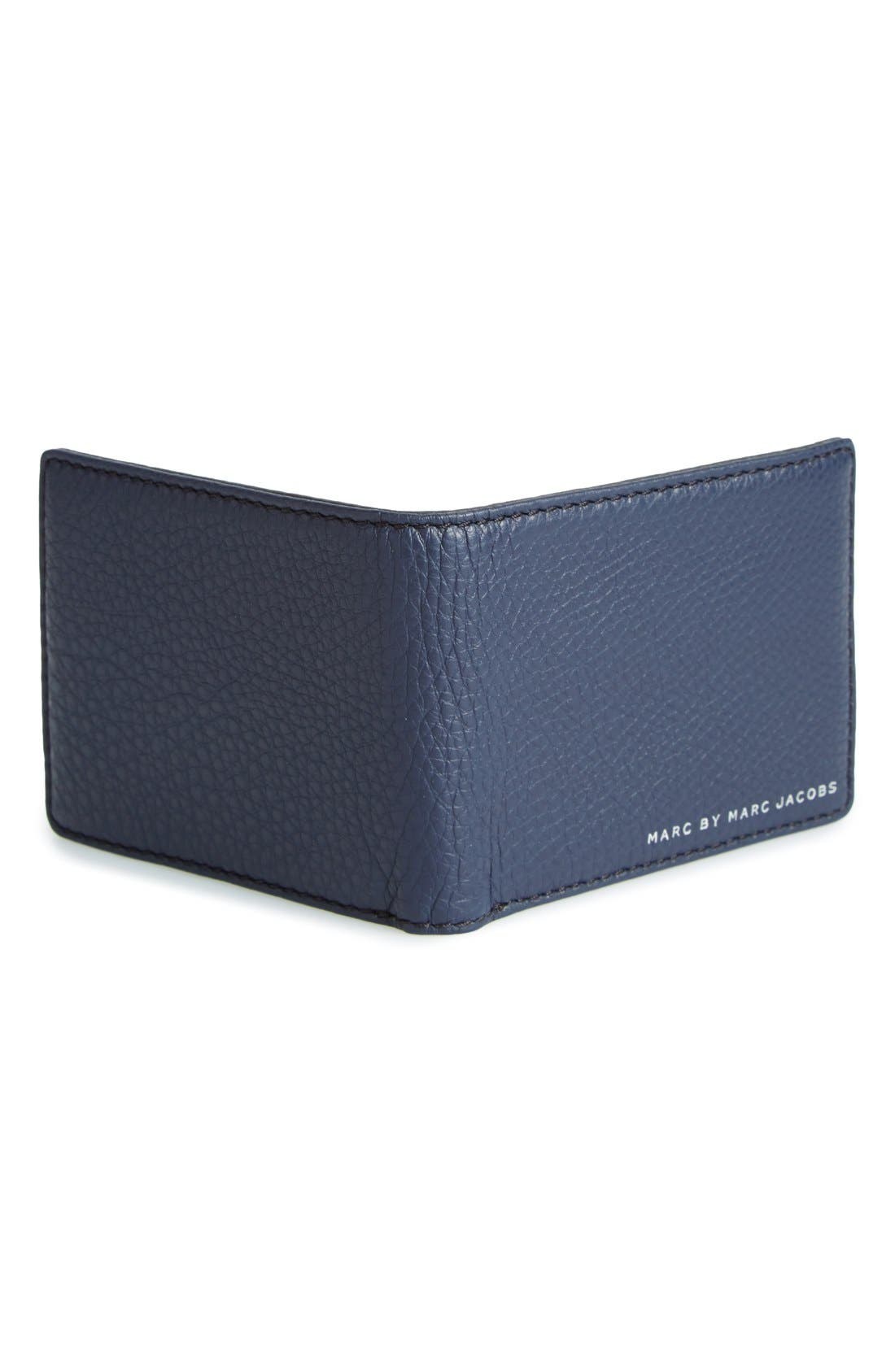 'Martin' Leather Bifold Wallet,                             Alternate thumbnail 3, color,                             495