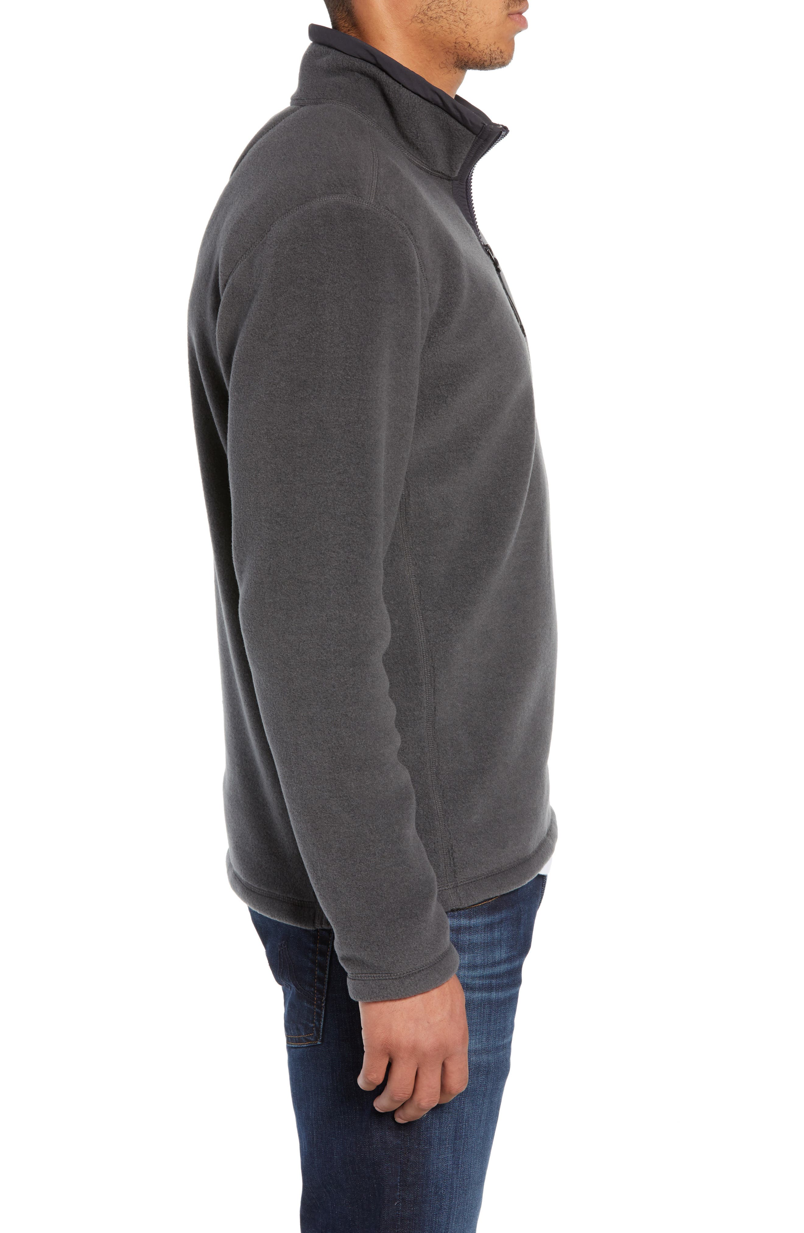 Pyrite Fleece Quarter Zip Pullover,                             Alternate thumbnail 3, color,                             TNF DARK GREY HEATHER