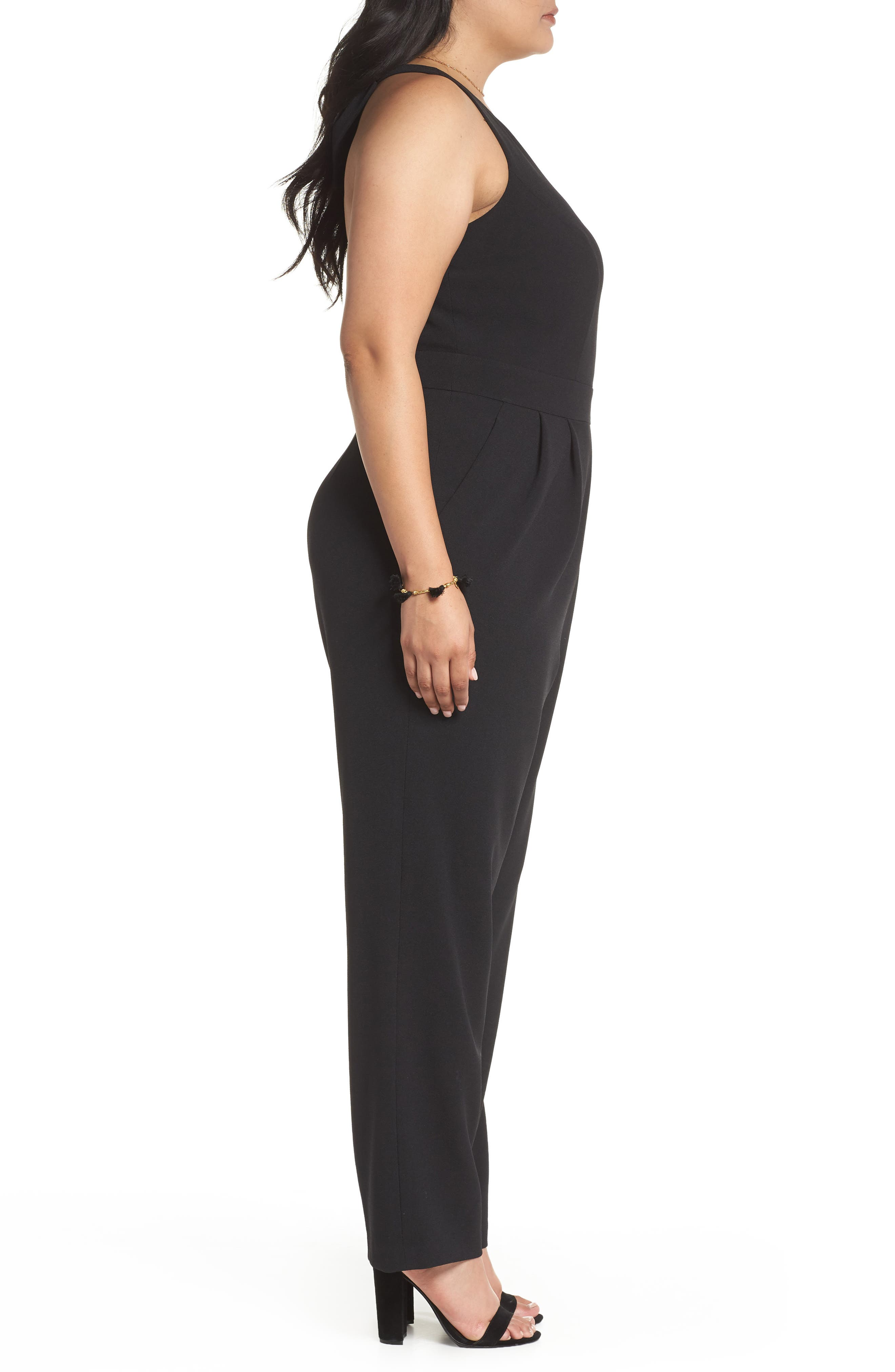 Bow Back Jumpsuit,                             Alternate thumbnail 3, color,                             001