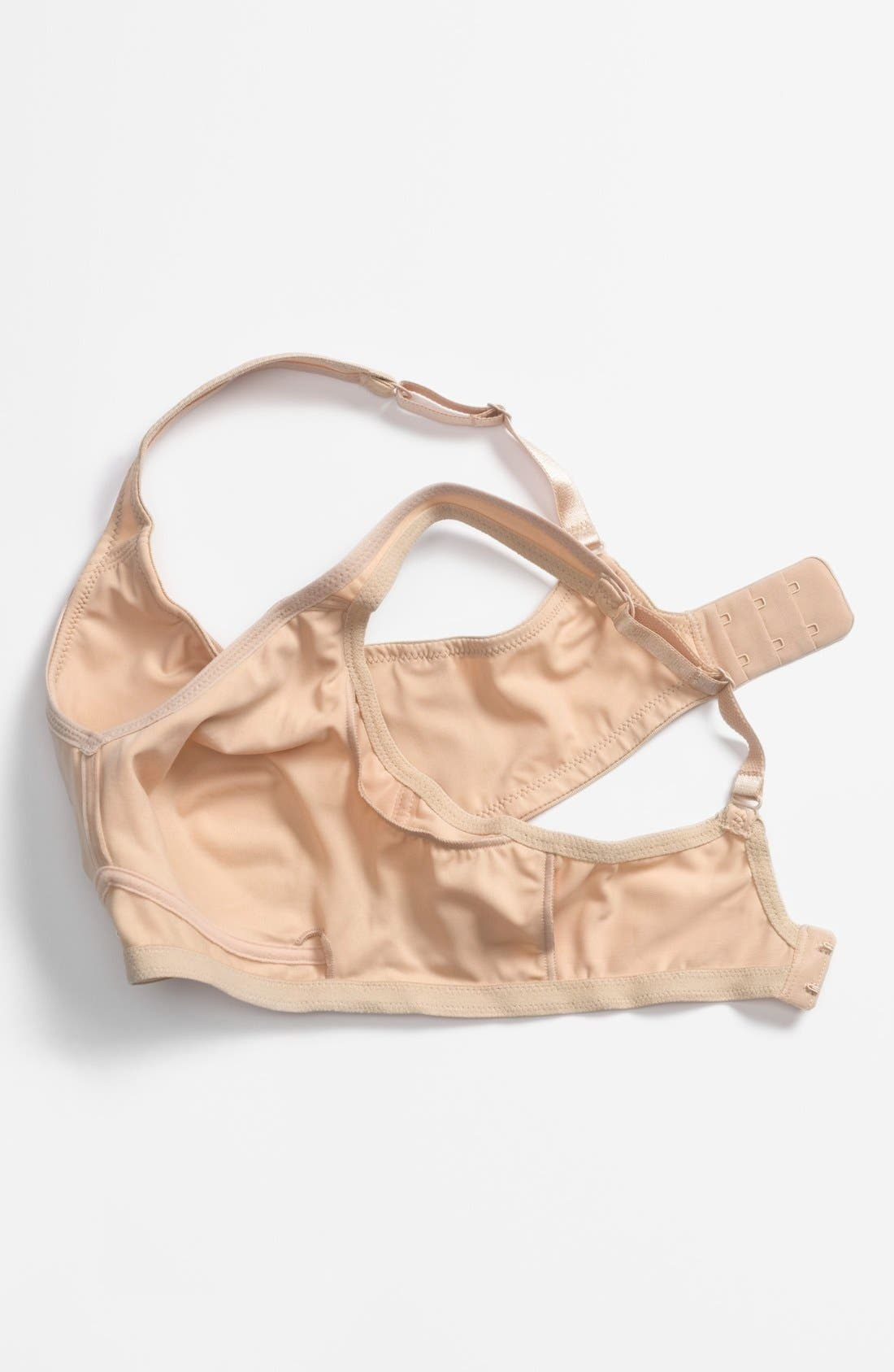 'Marlena' Seamless Soft Cup Bra,                             Alternate thumbnail 3, color,                             NUDE