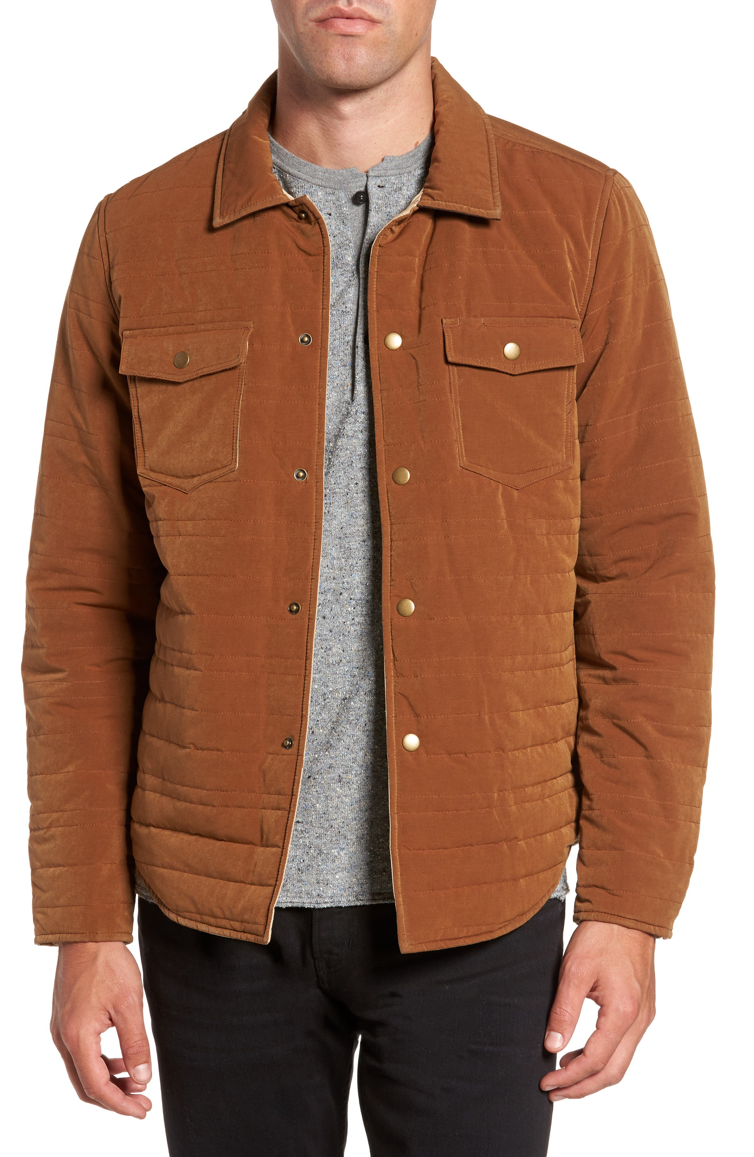 Michael Slim Fit Quilted Shirt Jacket,                             Main thumbnail 2, color,