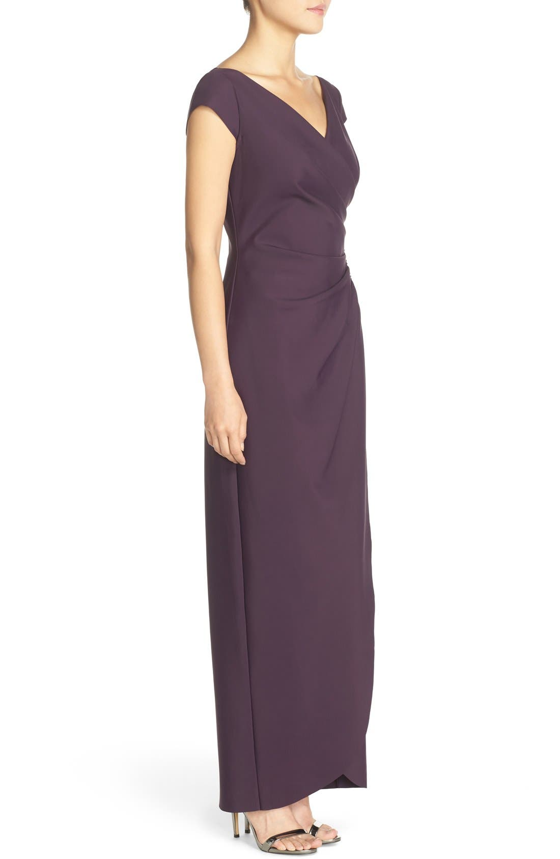 Embellished Jersey Column Gown,                             Alternate thumbnail 2, color,                             504