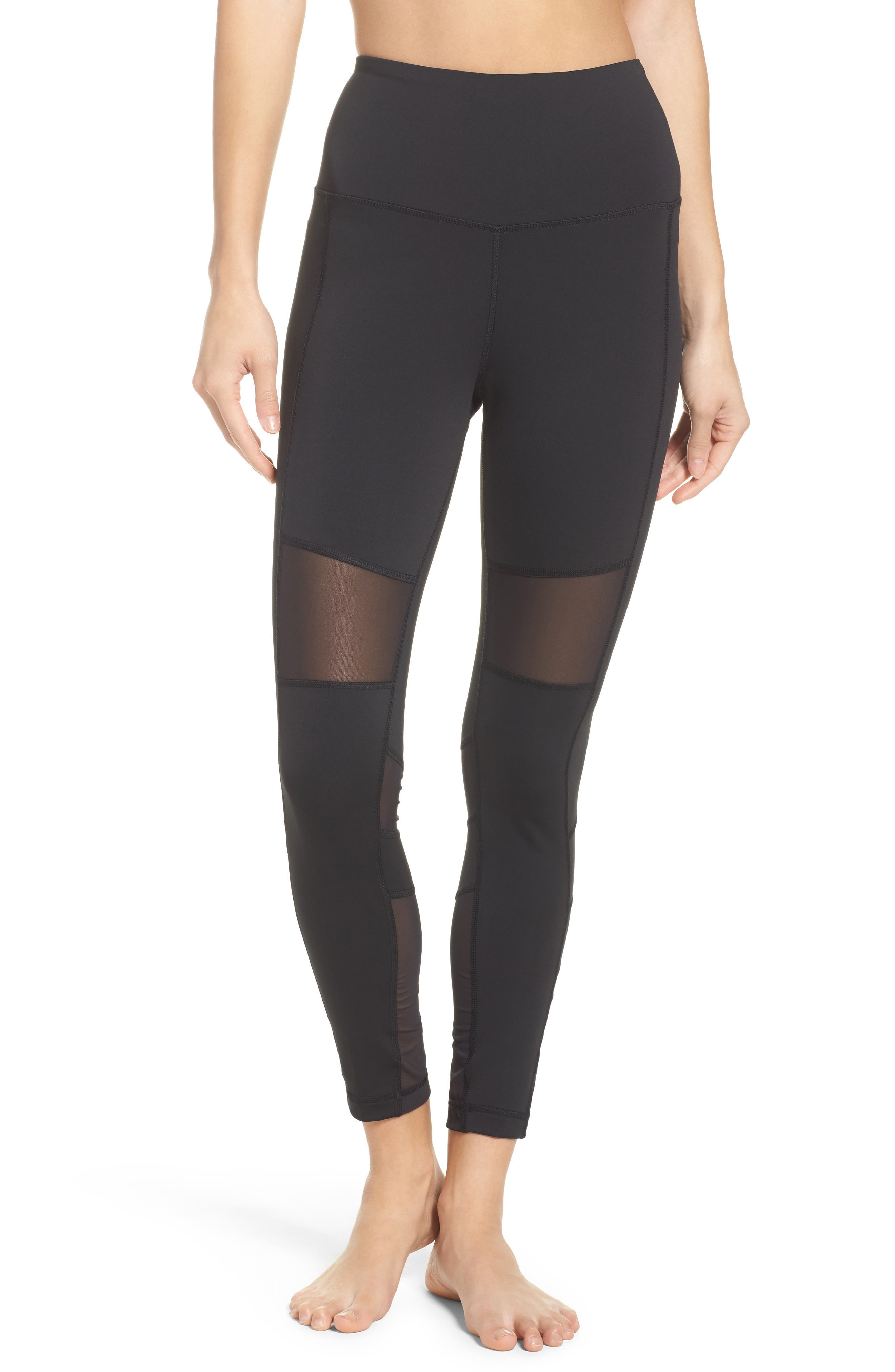 Lux Mesh High Waist Tights,                         Main,                         color,
