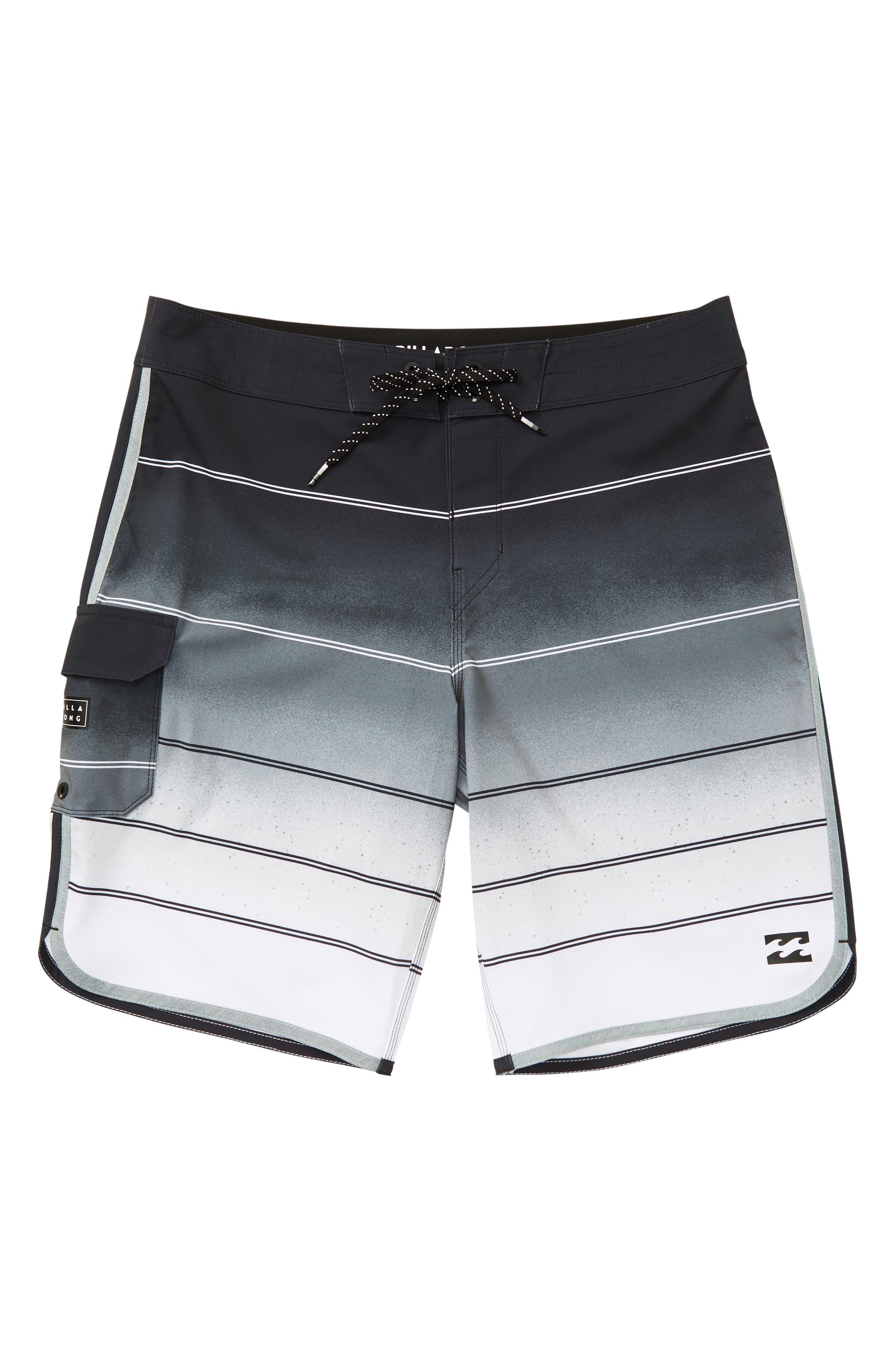 73 X Stripe Board Shorts,                             Main thumbnail 1, color,                             020