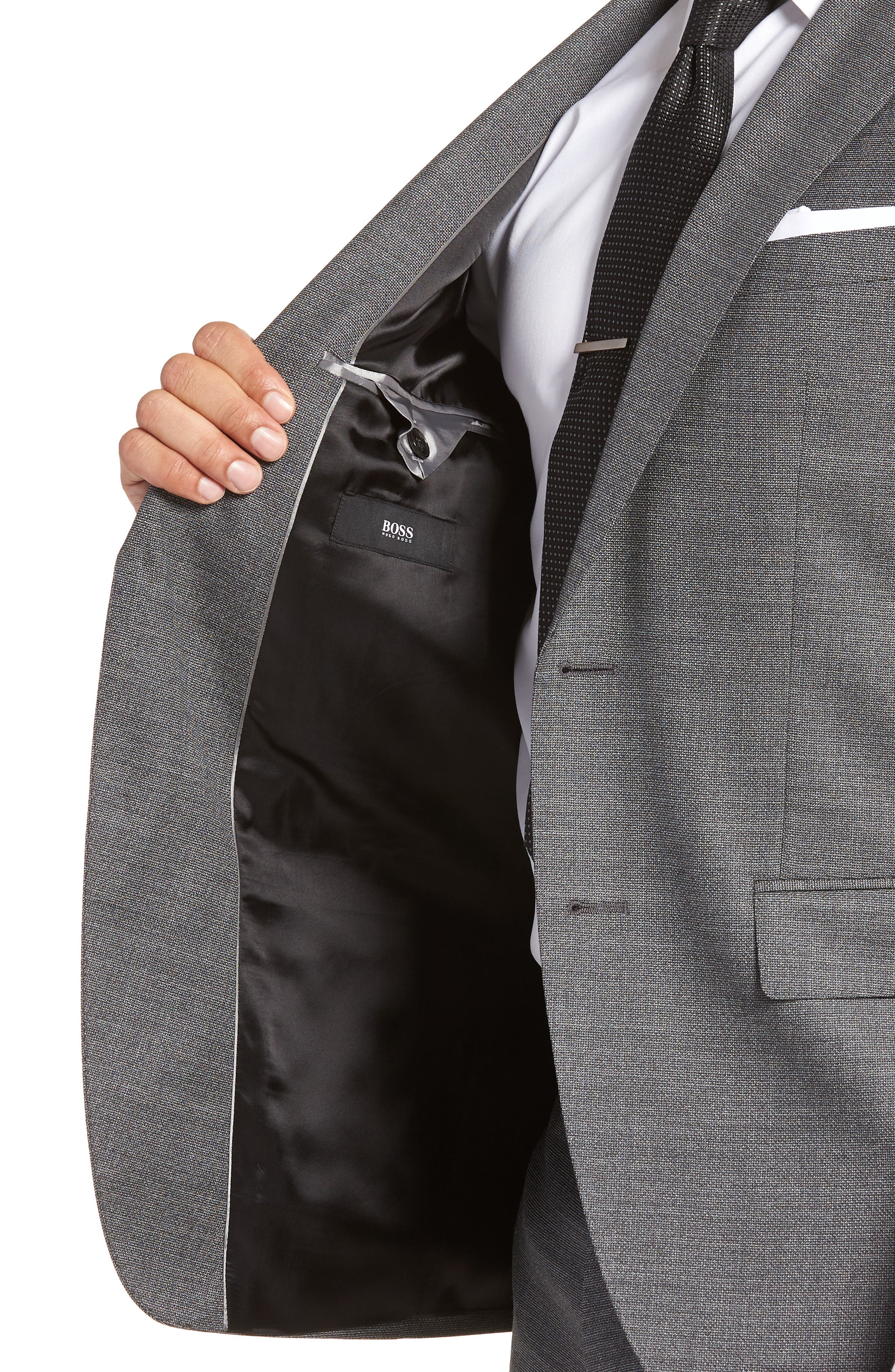 Johnstons/Lenon Classic Fit Solid Wool Suit,                             Alternate thumbnail 4, color,                             020