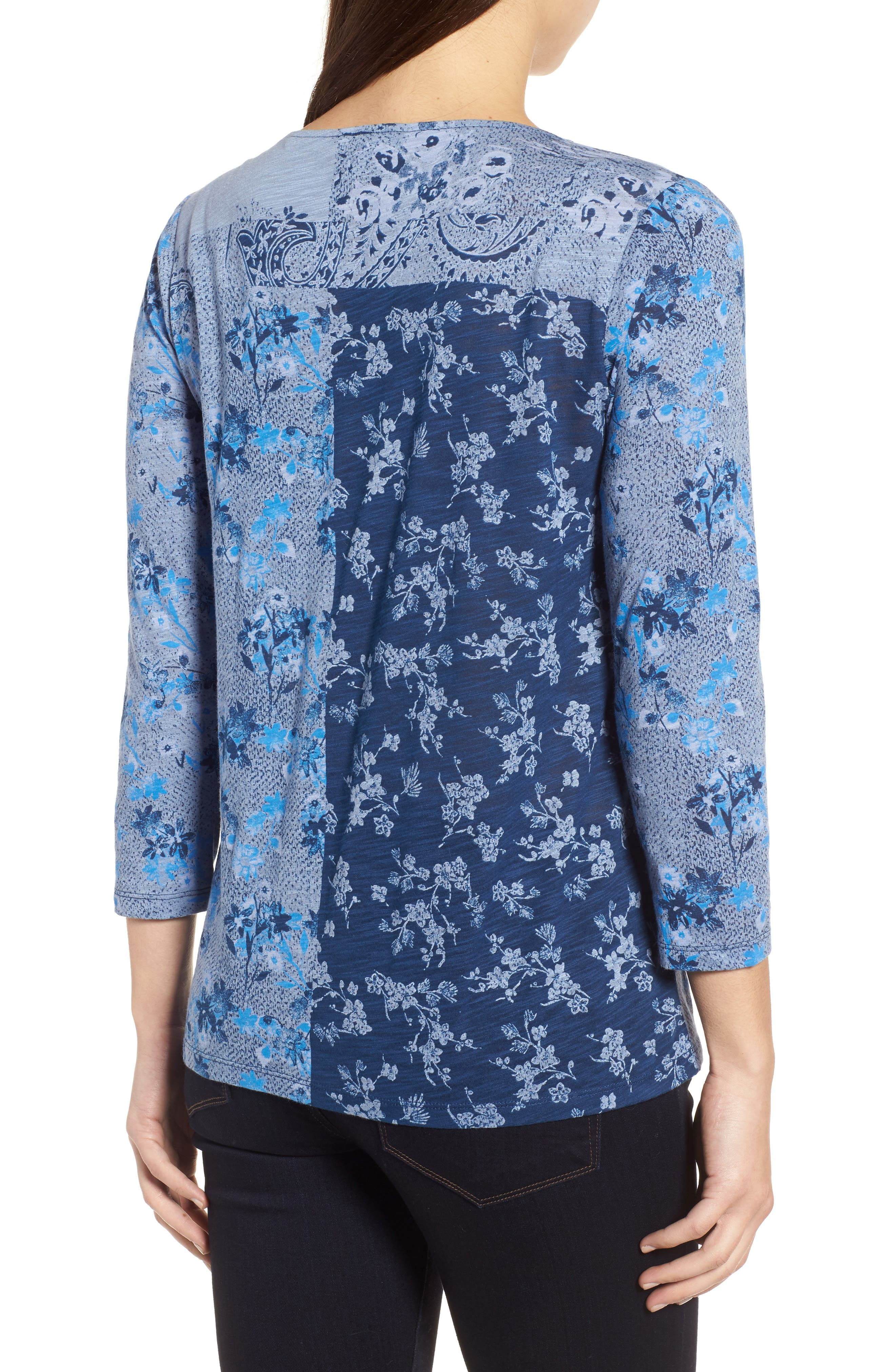 Madeline Floral Tee,                             Alternate thumbnail 2, color,                             460