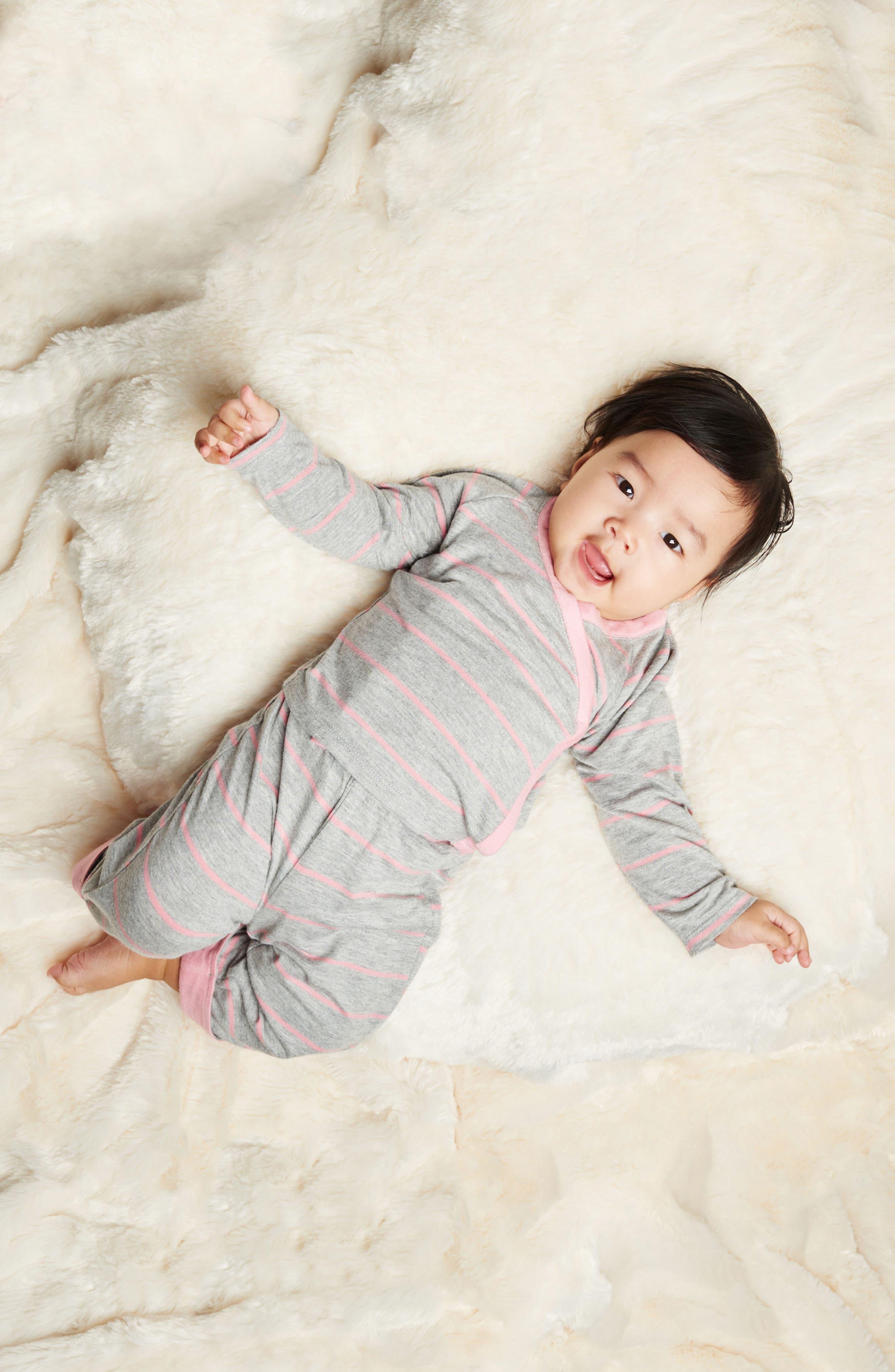 Kimono Top, Pants, Beanie & Receiving Blanket Set,                             Alternate thumbnail 3, color,                             ROSEBUD