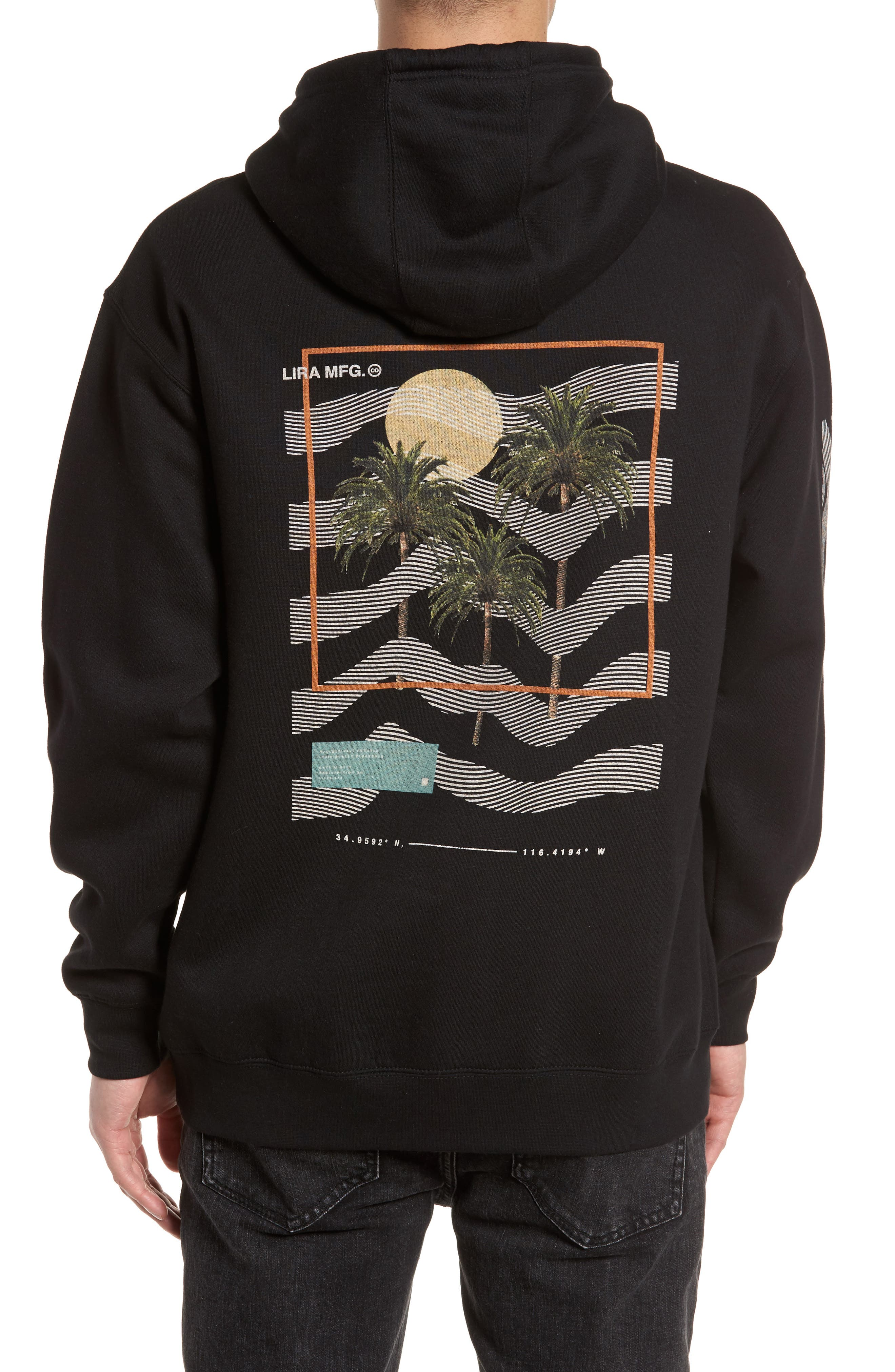 Coil Graphic Hoodie,                             Alternate thumbnail 2, color,                             001