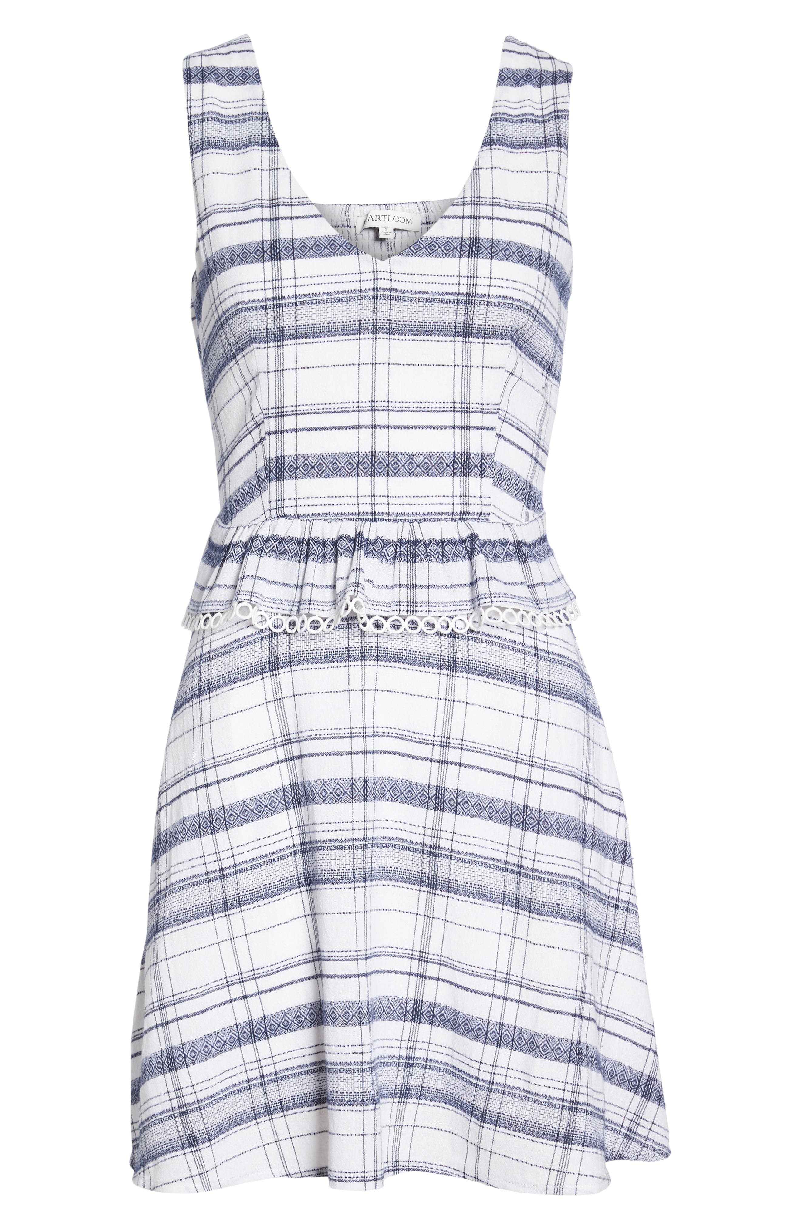 Aubrey Plaid Fit & Flare Dress,                             Alternate thumbnail 7, color,