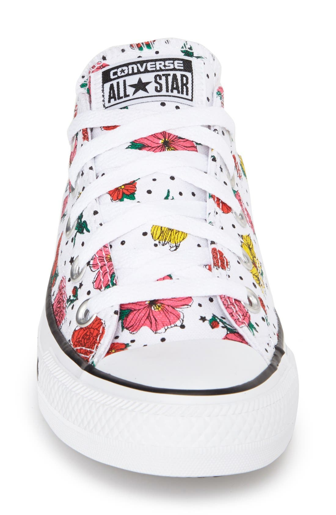 CONVERSE,                             Chuck Taylor<sup>®</sup> All Star<sup>®</sup> Floral Polka Dot Low Top Sneaker,                             Alternate thumbnail 2, color,                             007