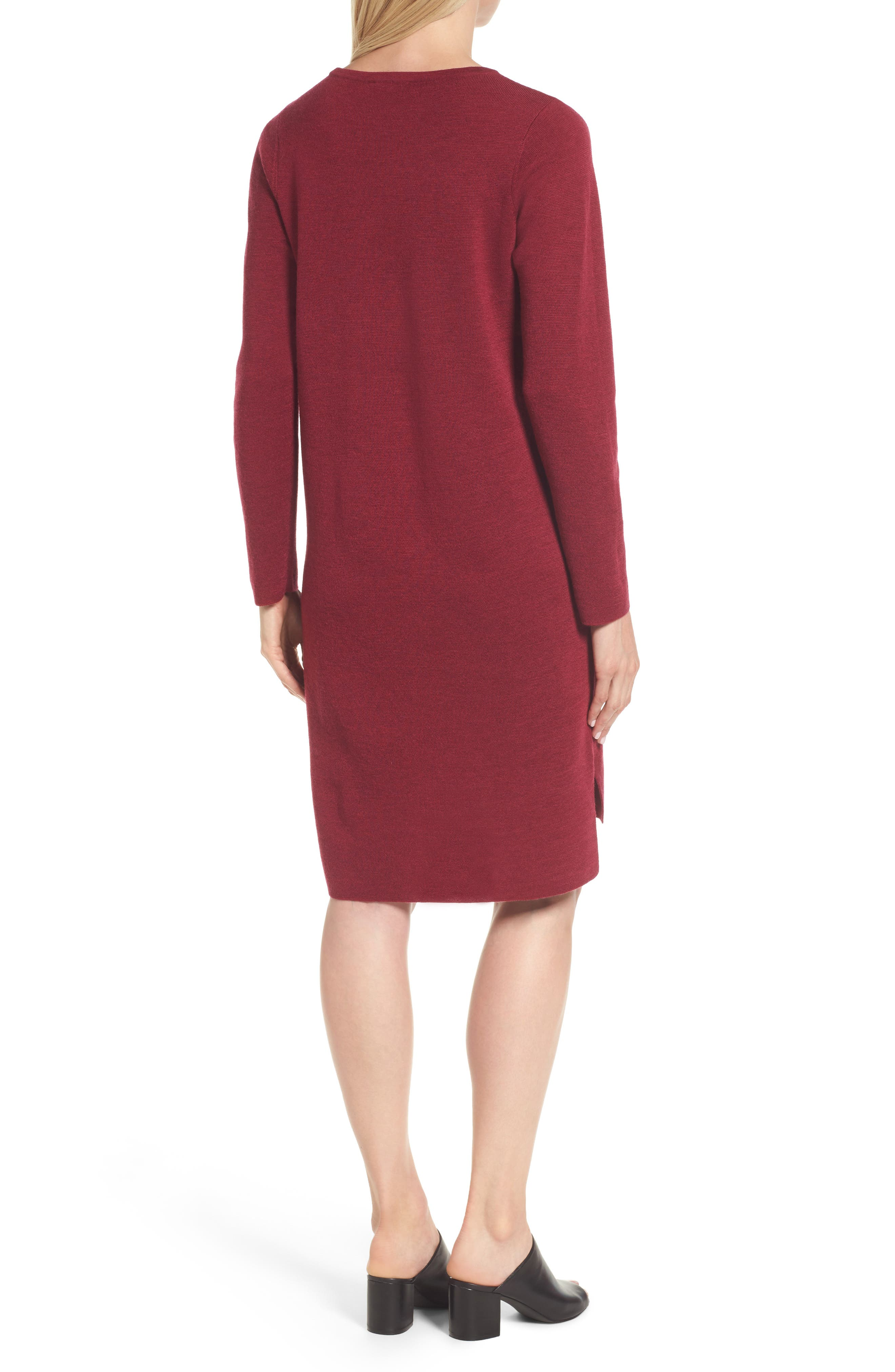 Merino Wool Sweater Dress,                             Alternate thumbnail 8, color,