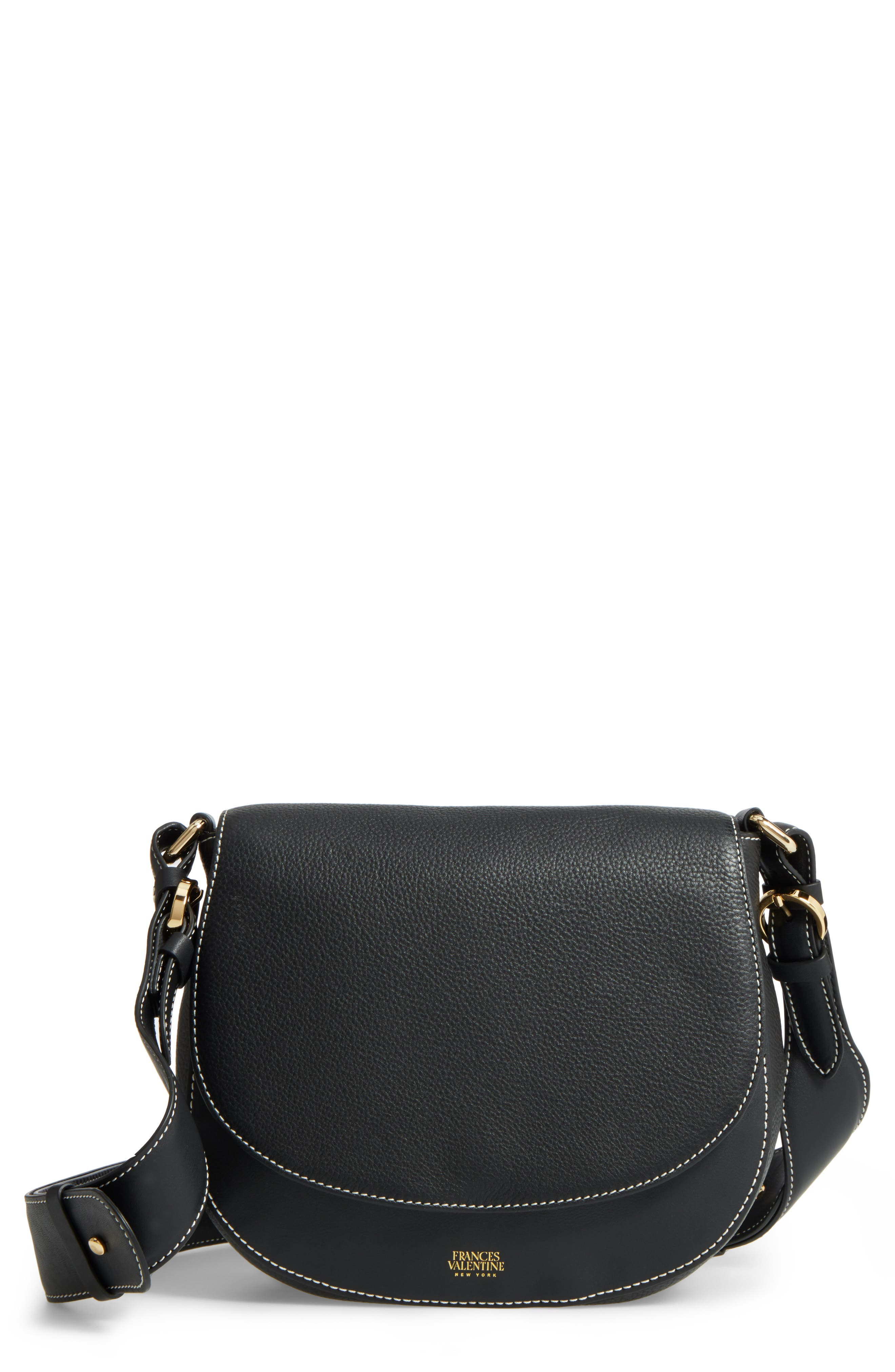 Small Ellen Leather Crossbody Bag,                             Main thumbnail 1, color,                             001