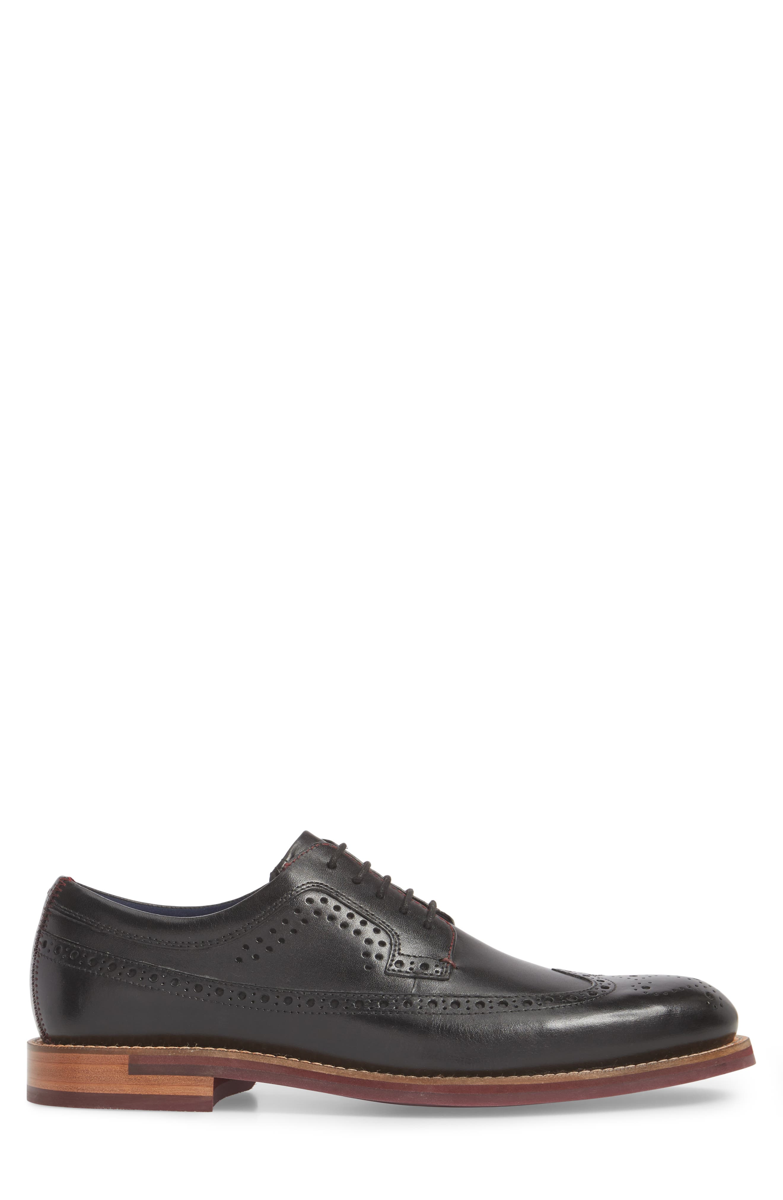 Mition Wingtip Derby,                             Alternate thumbnail 3, color,                             BLACK LEATHER