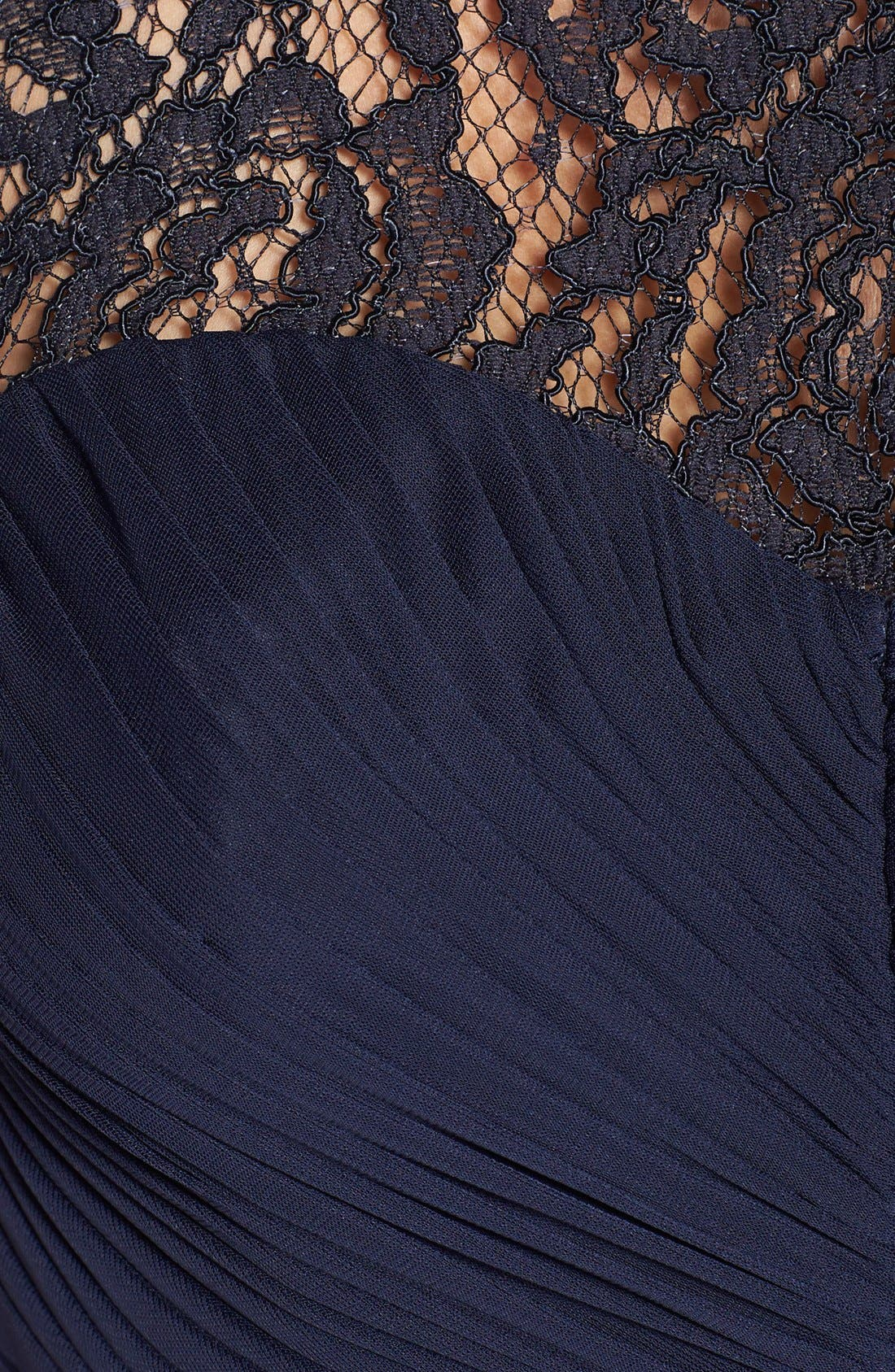 Lace Yoke Drape Gown,                             Alternate thumbnail 18, color,