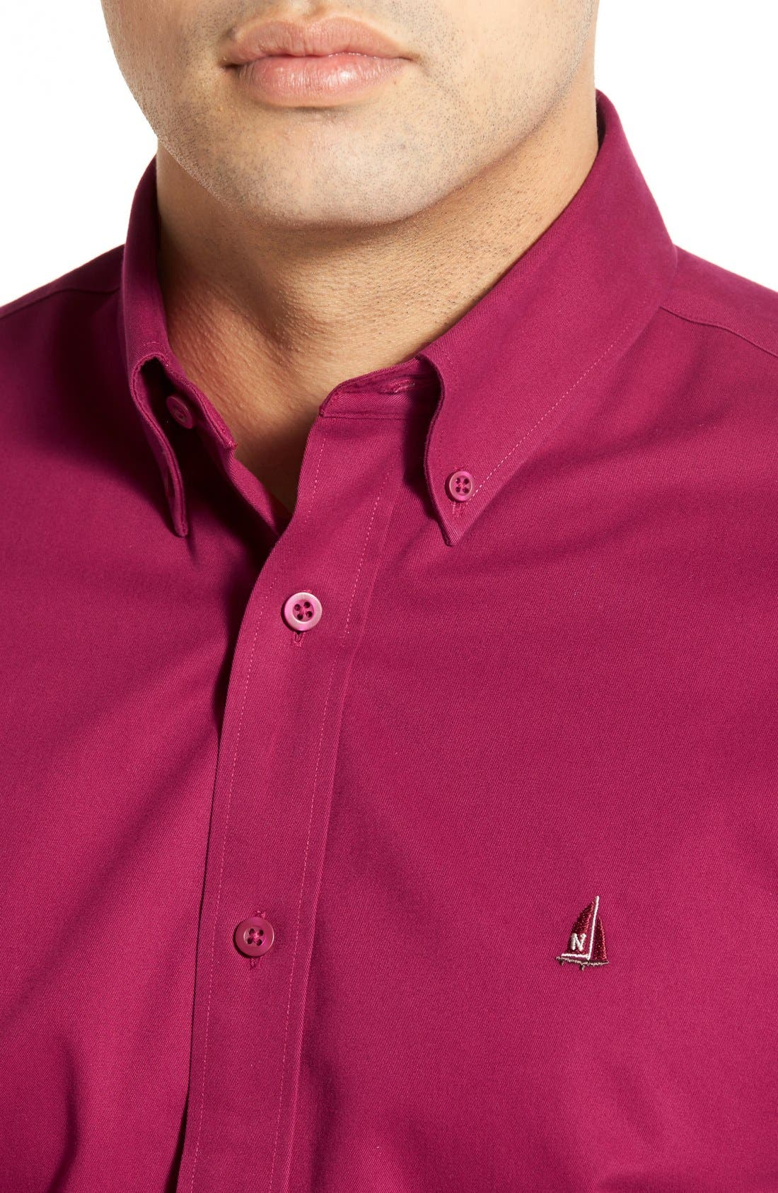 Smartcare<sup>™</sup> Traditional Fit Twill Boat Shirt,                             Alternate thumbnail 130, color,
