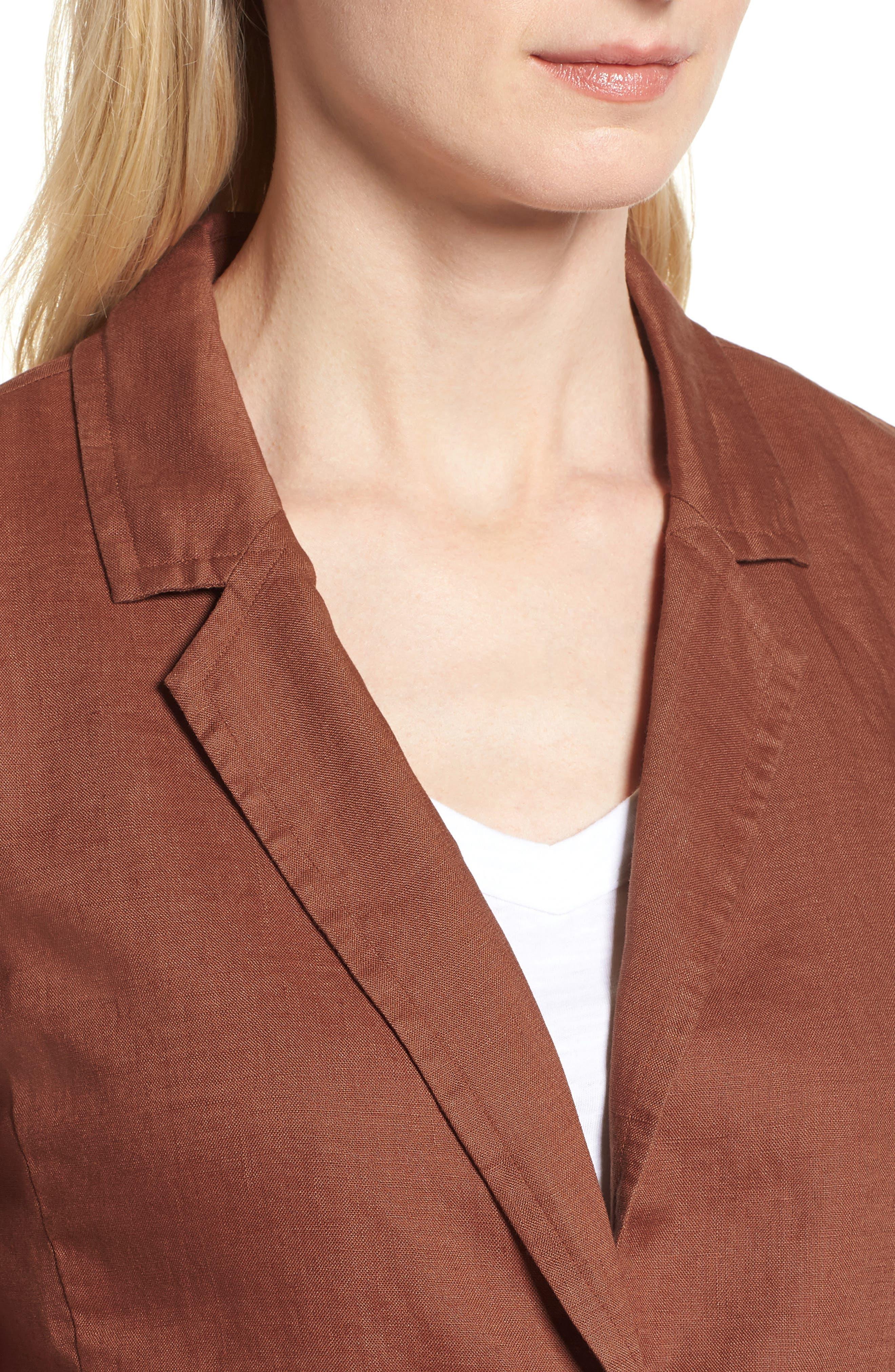 Organic Linen Blazer,                             Alternate thumbnail 13, color,