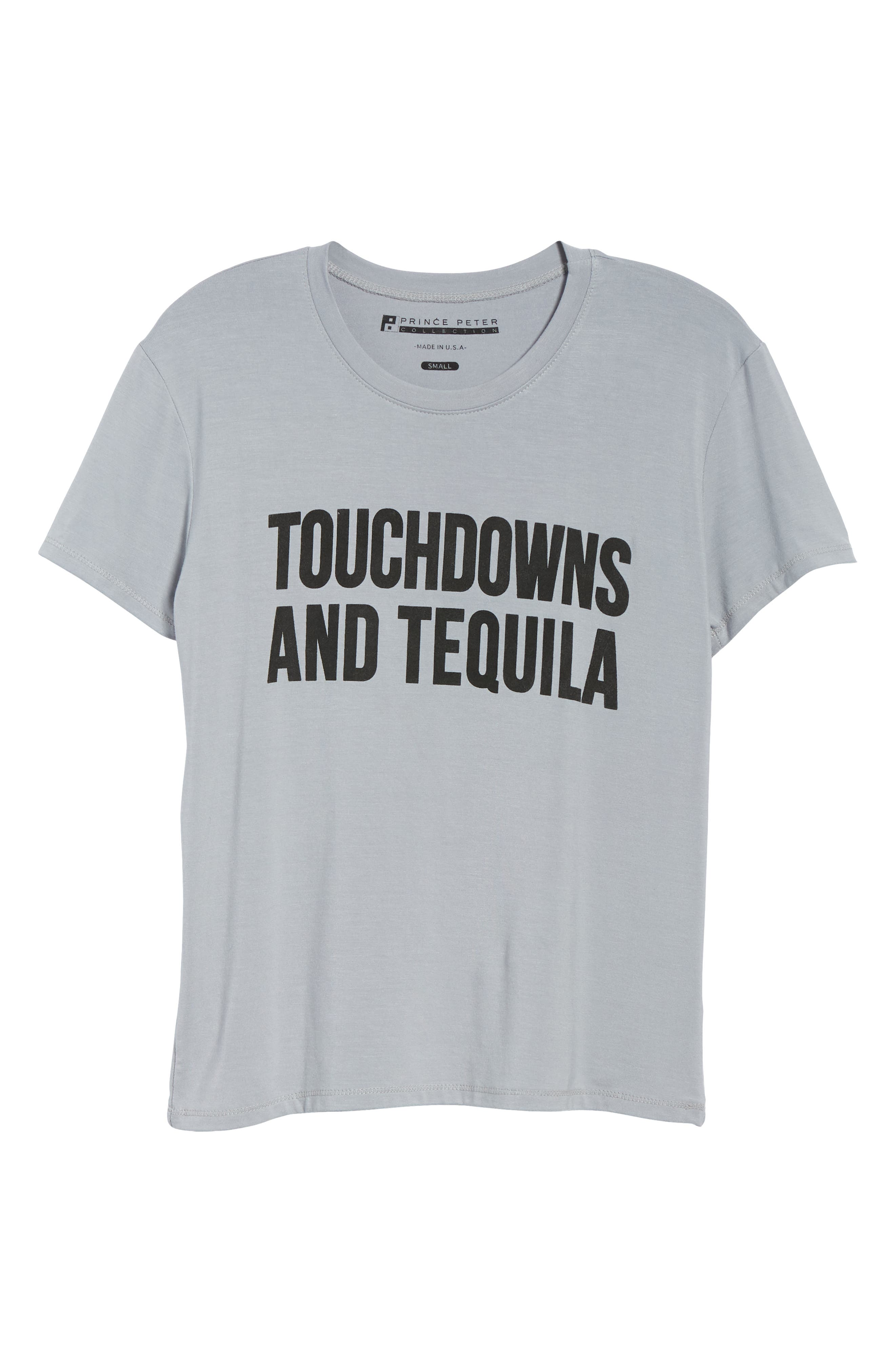 Touchdowns & Tequila Tee,                             Alternate thumbnail 6, color,                             GREY